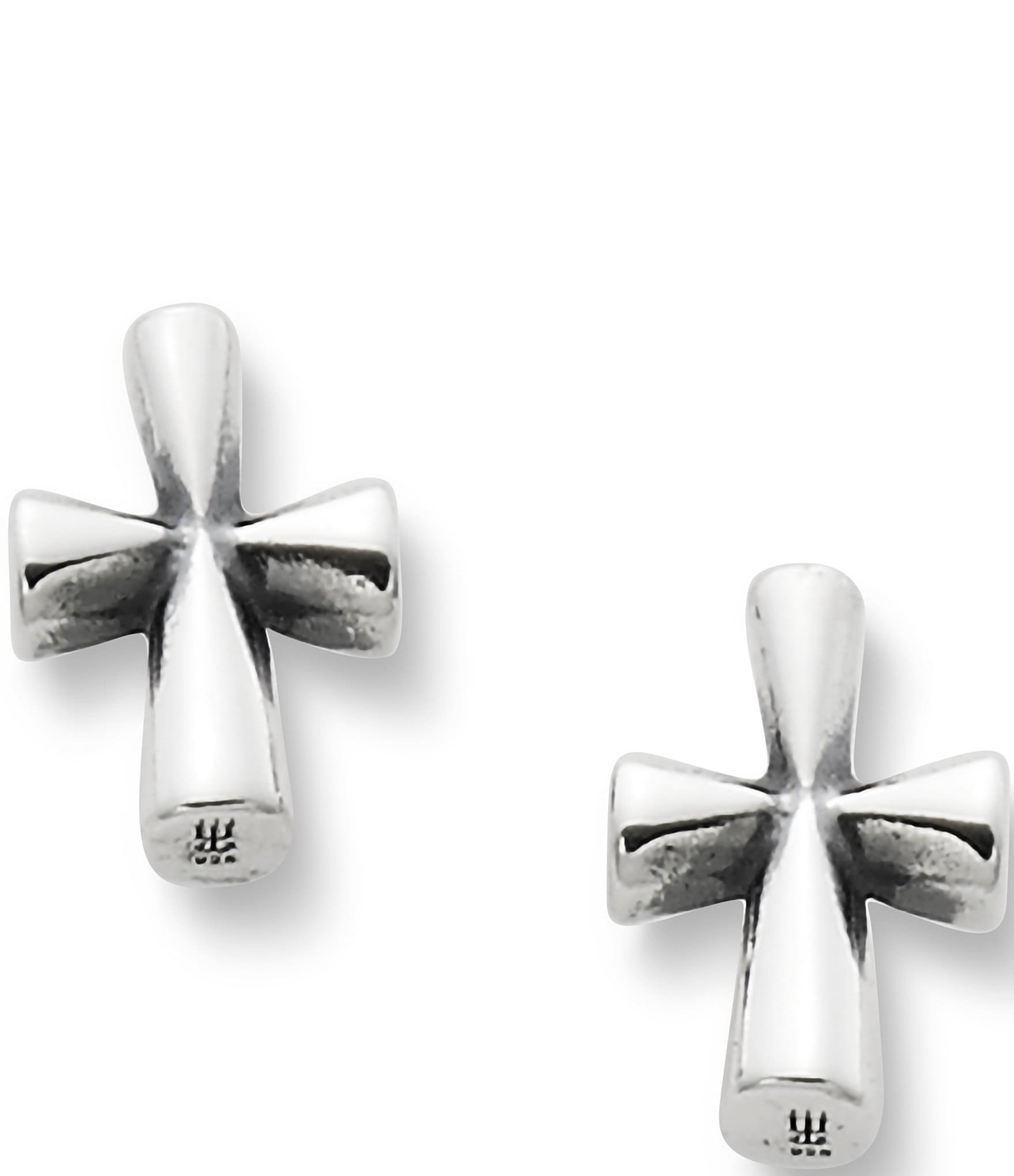 avery stud earrings avery sterling silver st teresa cross stud earrings 6143