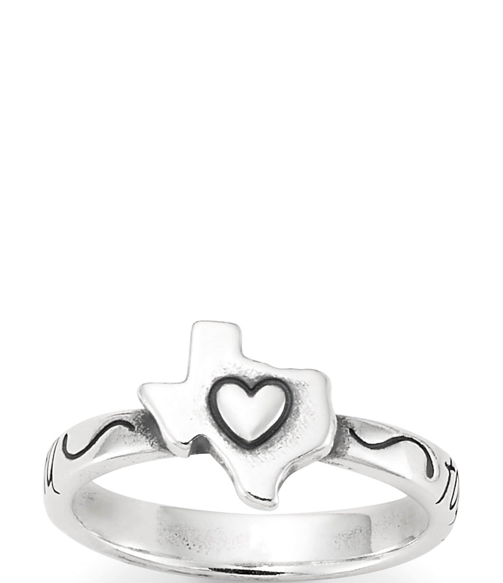 Sterling rings 8 in Shoe ring holder