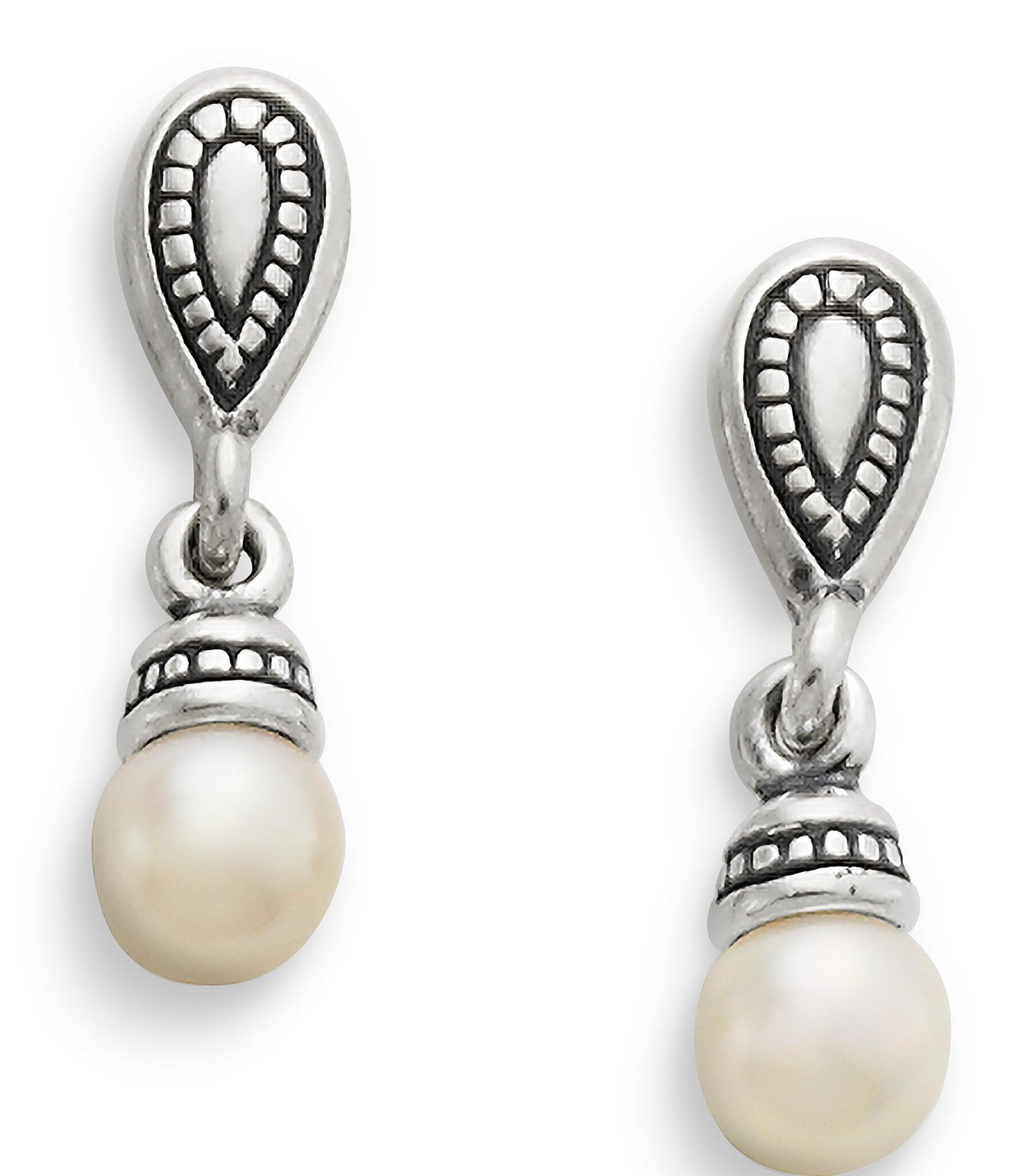 James Avery Vintage Pearl Drop Earrings Dillards