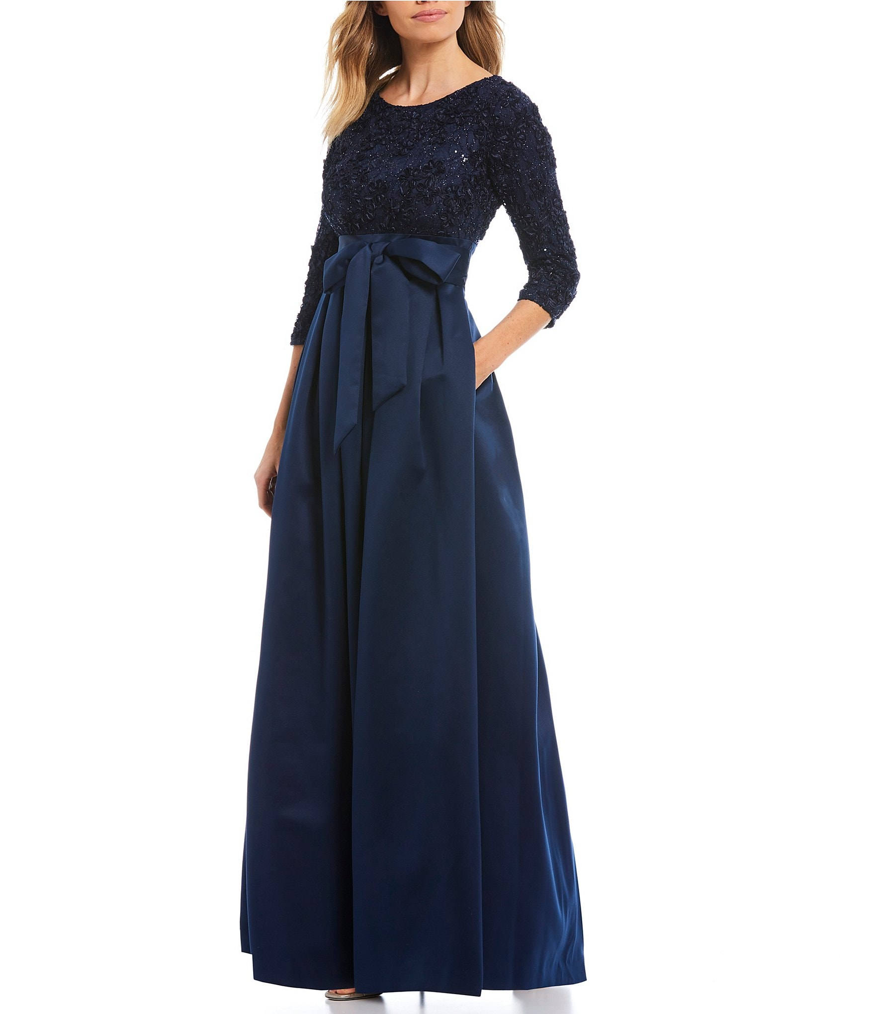 Navy Blue Mother Of Bride Dress Women