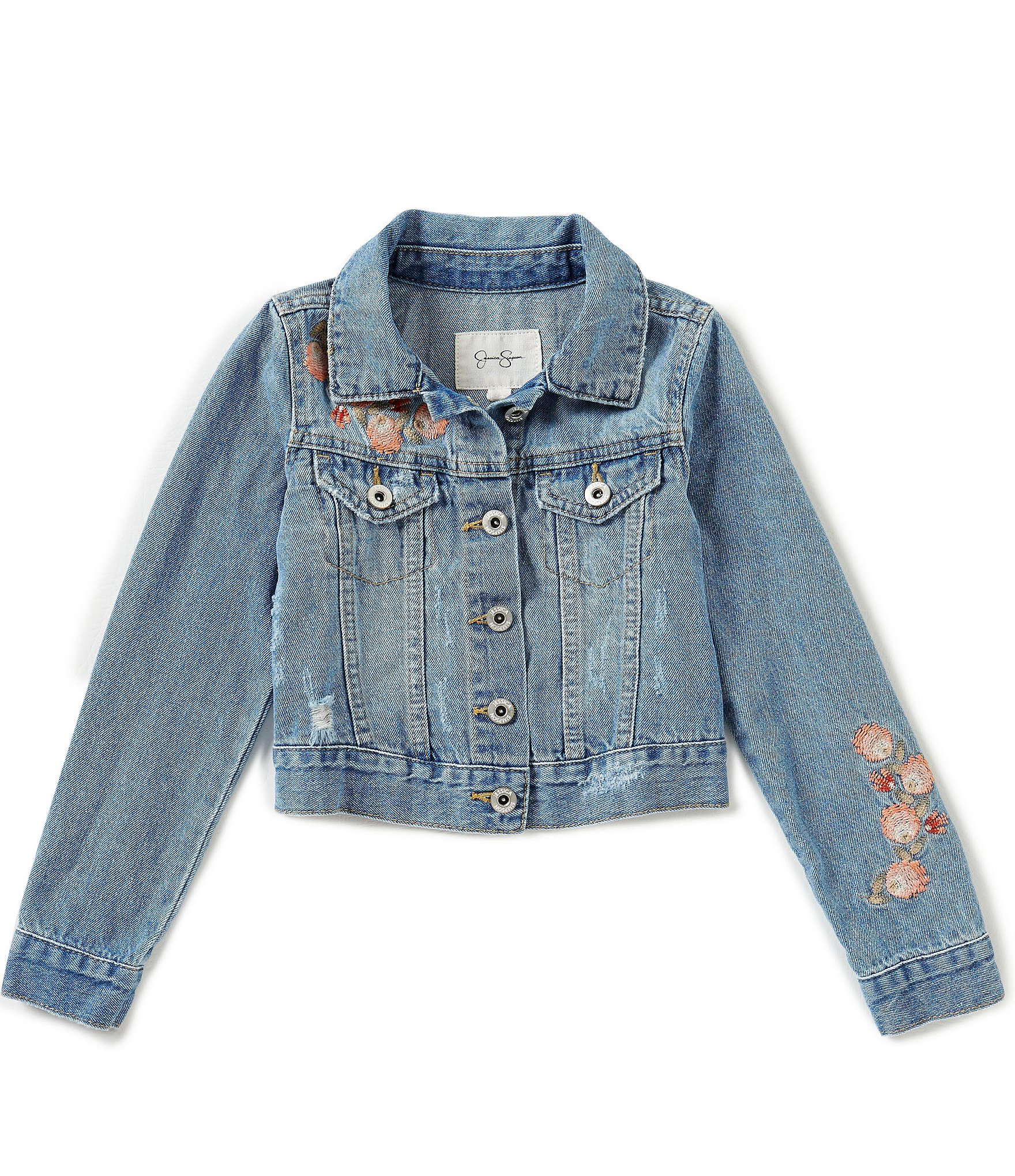 Jessica simpson big girls pixie embroidered denim