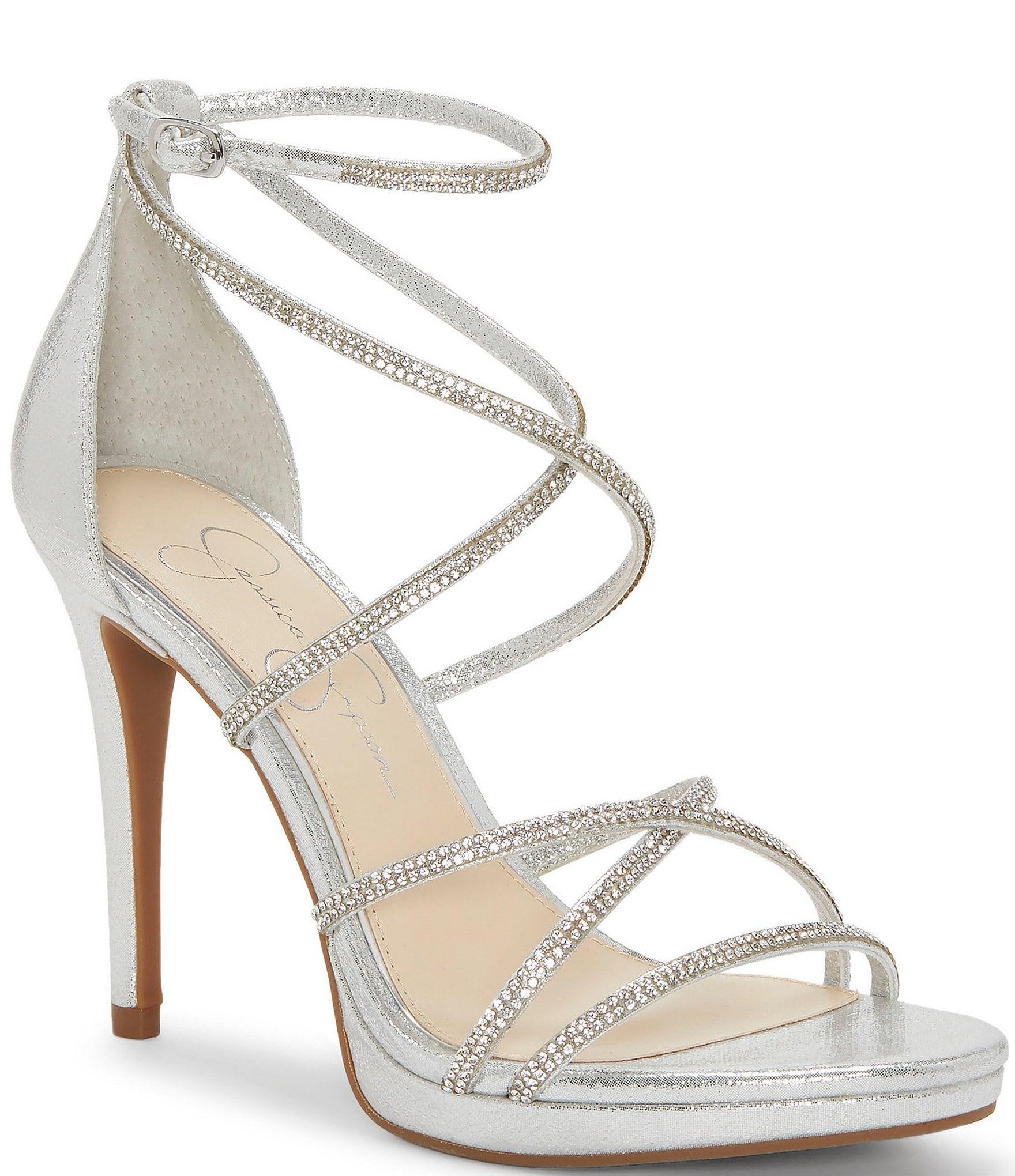 549156c6099 Jessica Simpson Jaeya Rhinestone Strappy Dress Sandals