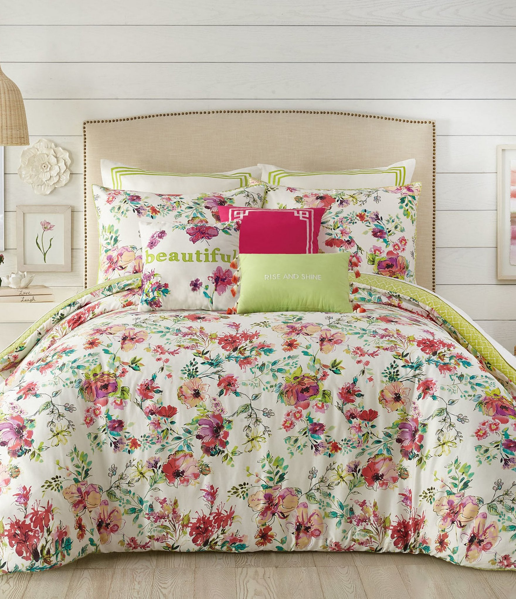 Jessica Simpson Watercolor Garden Comforter Mini Set