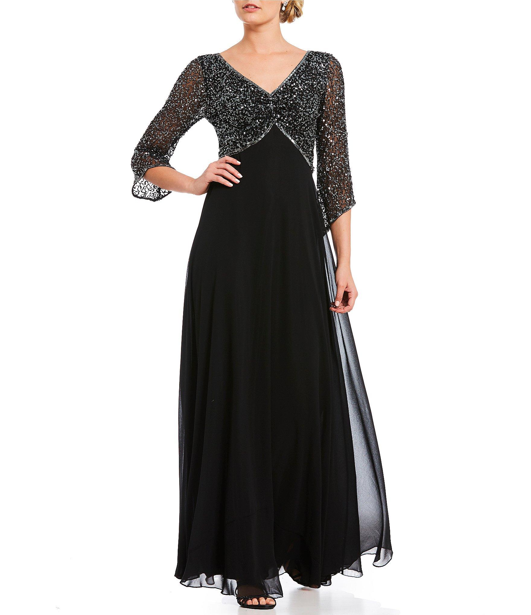 Star Wedding Dress Shop: Jkara V Neck Beaded Top Bodice Gown