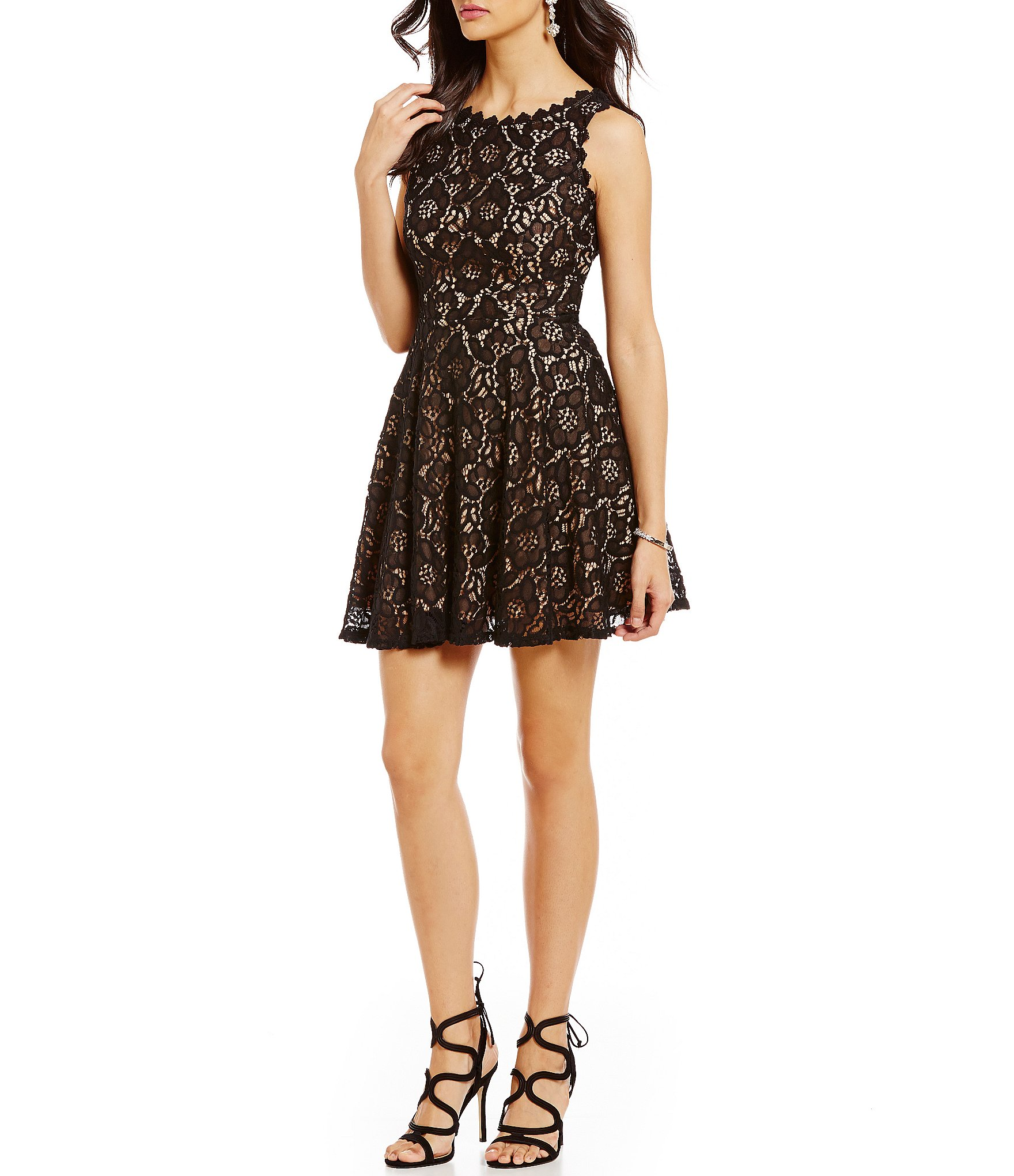 Jodi Kristopher Lace A,line Dress