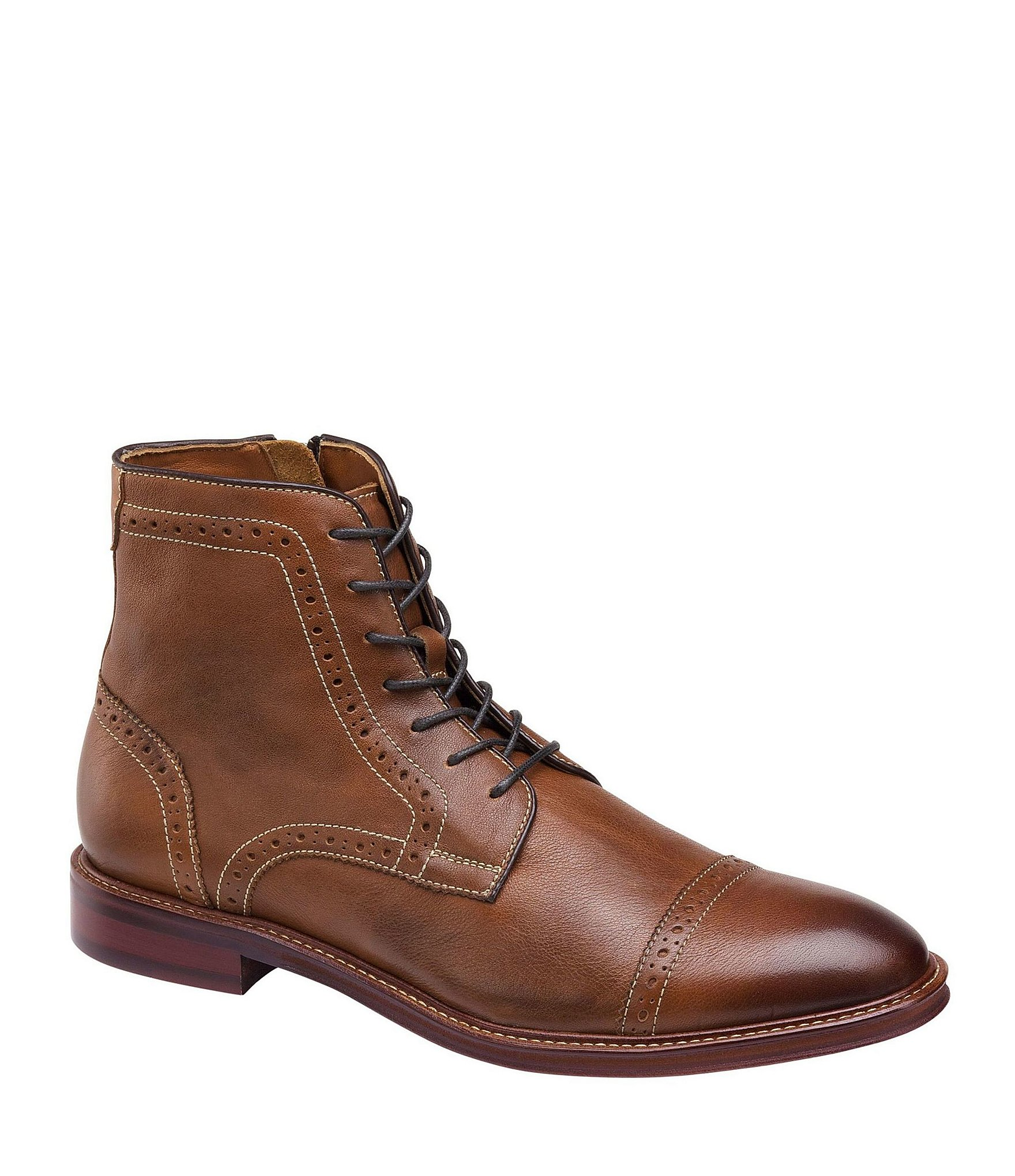 f59c7182c1ad5 Johnston & Murphy Men's Warner Cap Toe Zip Boot