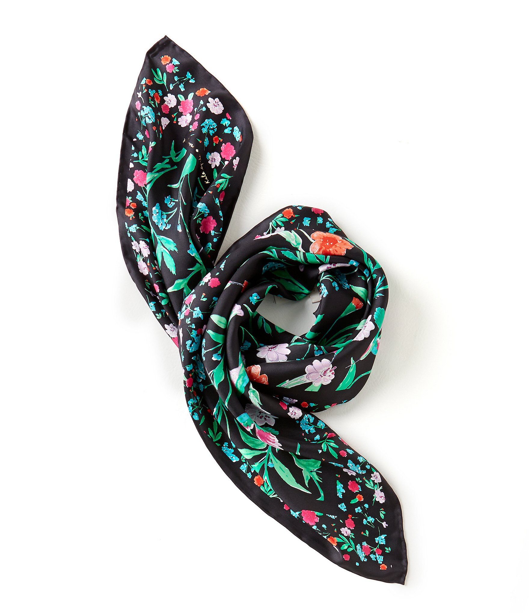 Kate spade new york jardin floral silk square scarf dillards for Jardin floral
