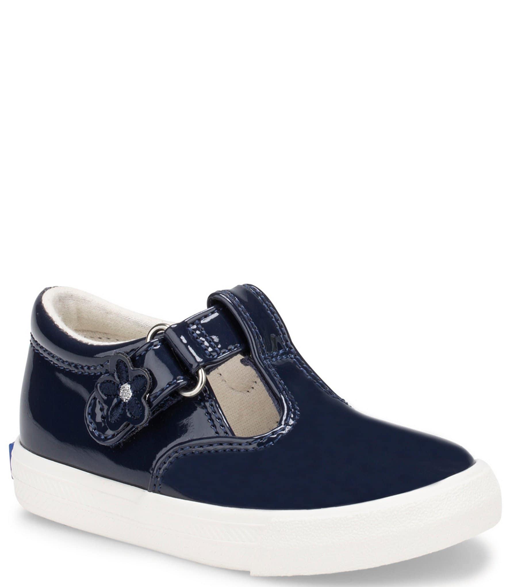 Keds Girls' Daphne Patent T-Strap Shoes