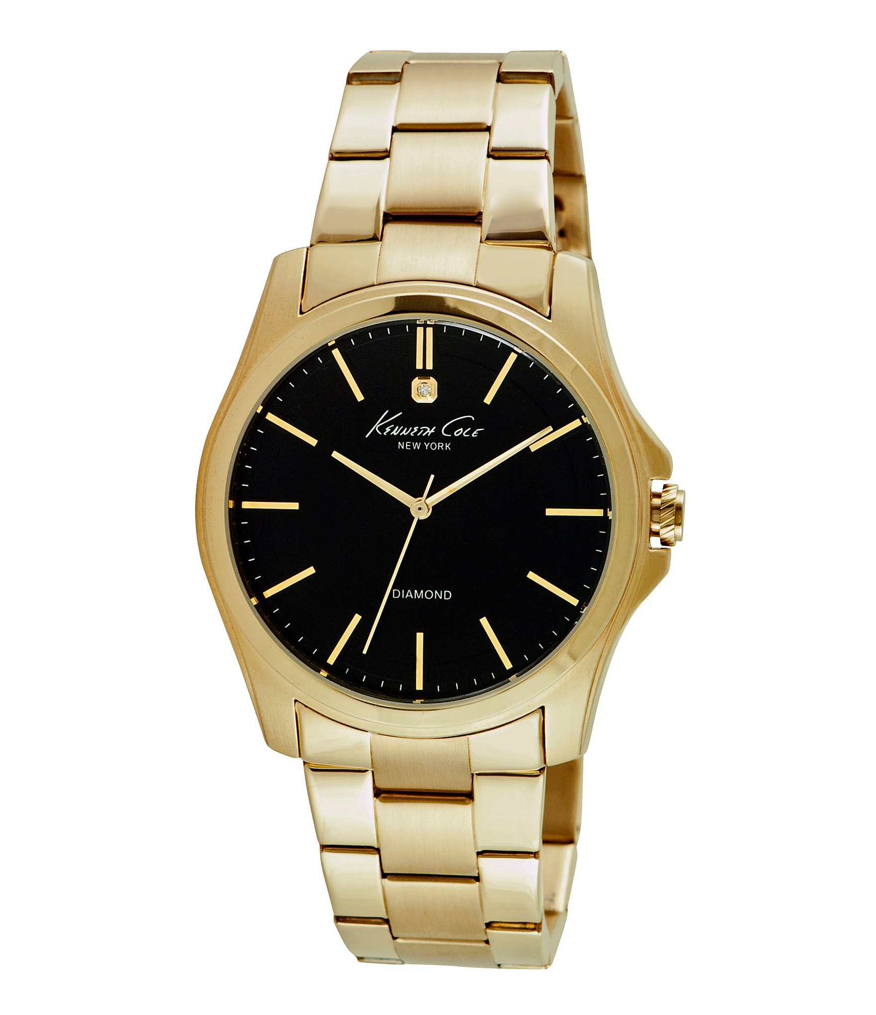 kenneth cole new york 180 s hamilton goldtone stainless