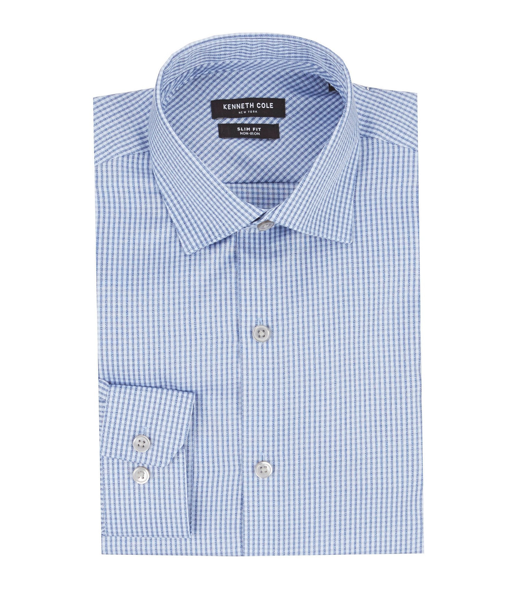 Kenneth cole new york non iron slim fit spread collar for New york and company dress shirts