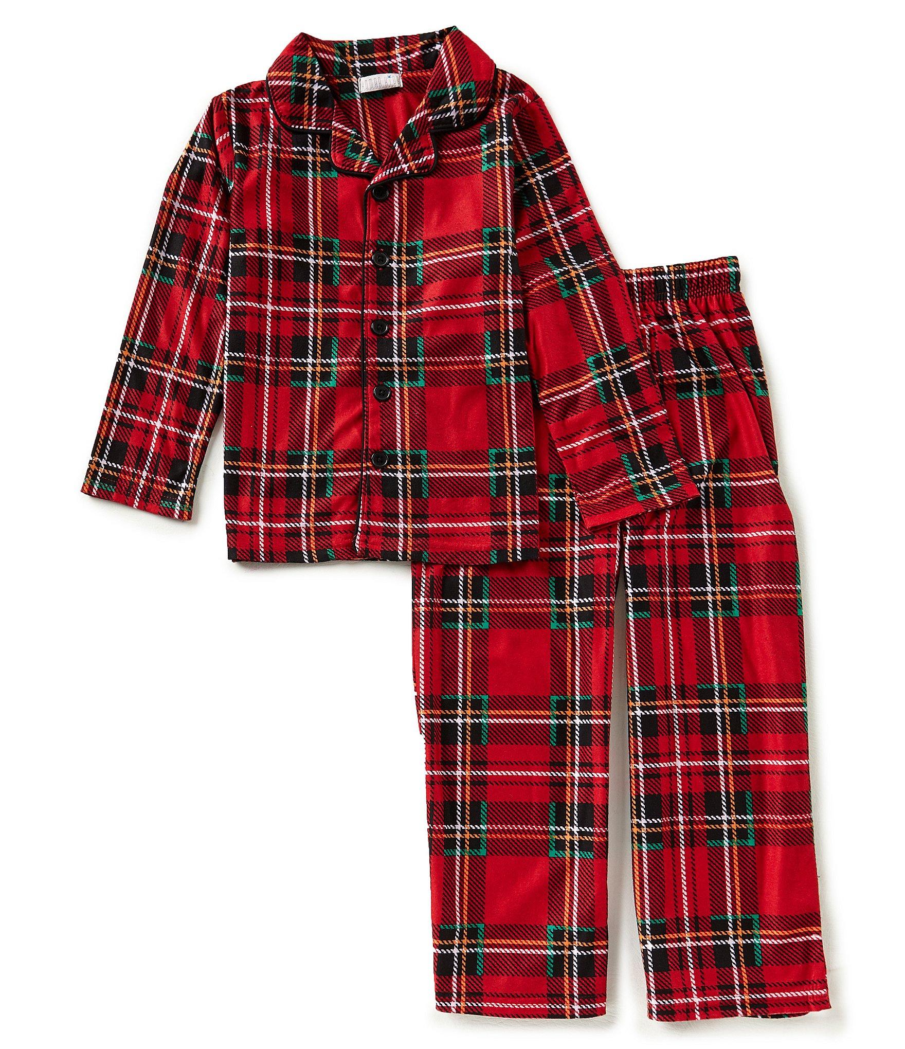 komar kids little big boys 4 16 christmas plaid pajama top. Black Bedroom Furniture Sets. Home Design Ideas