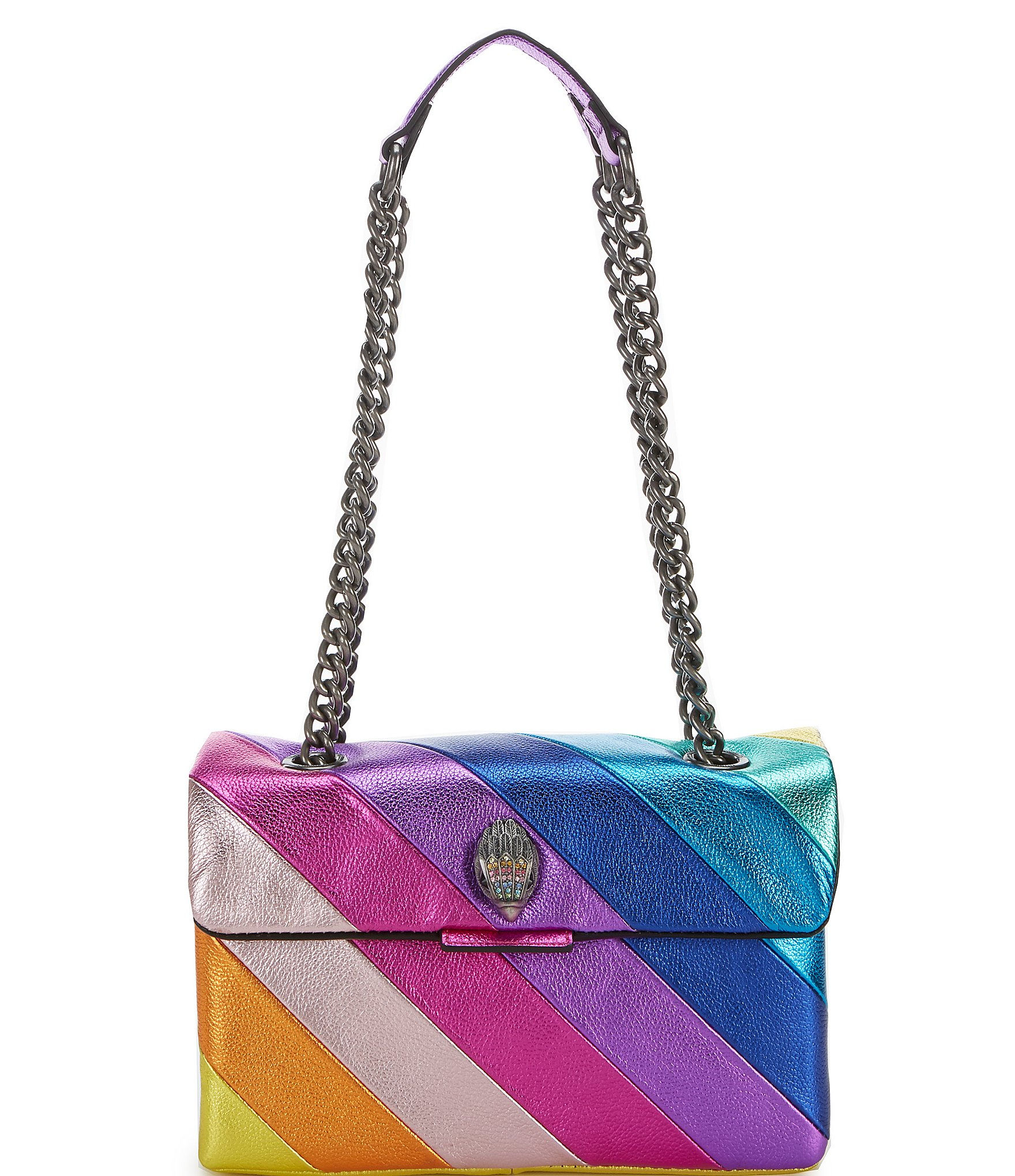 delicate colors hot products catch Kurt Geiger Kensington Rainbow Metallic Crossbody Bag | Dillard's