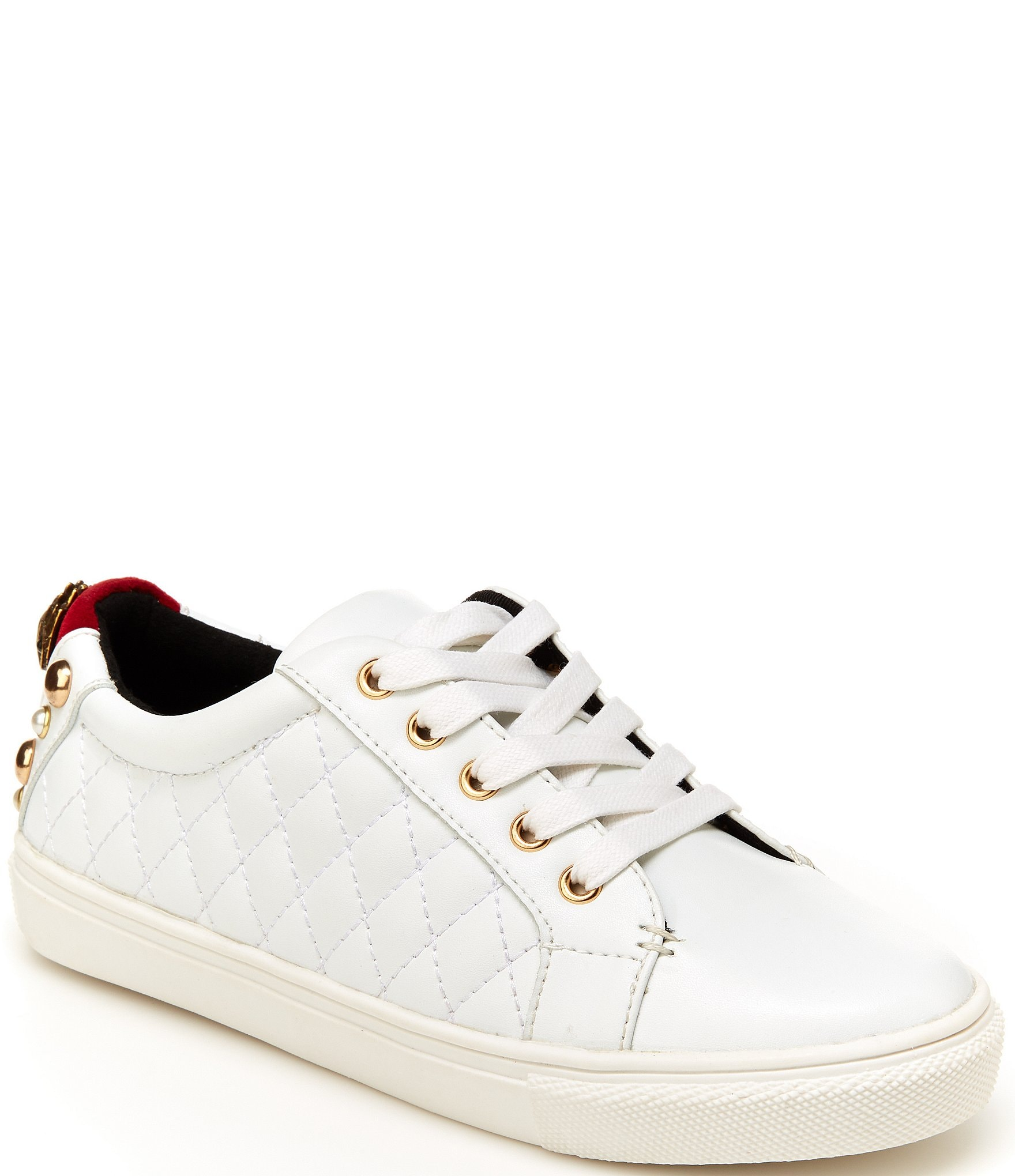 girls quilted sneakers