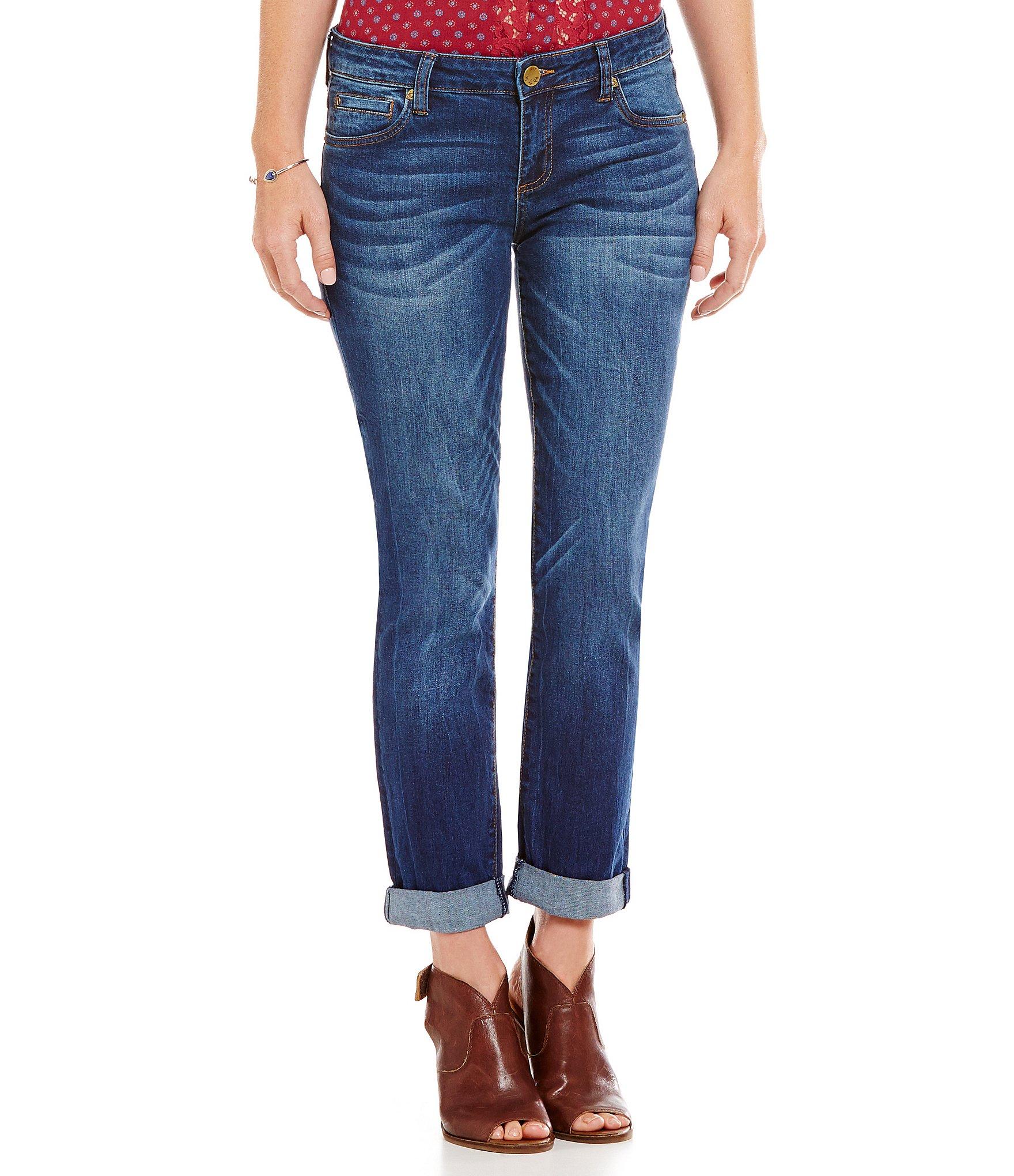 kut from the kloth catherine boyfriend jeans dillards. Black Bedroom Furniture Sets. Home Design Ideas