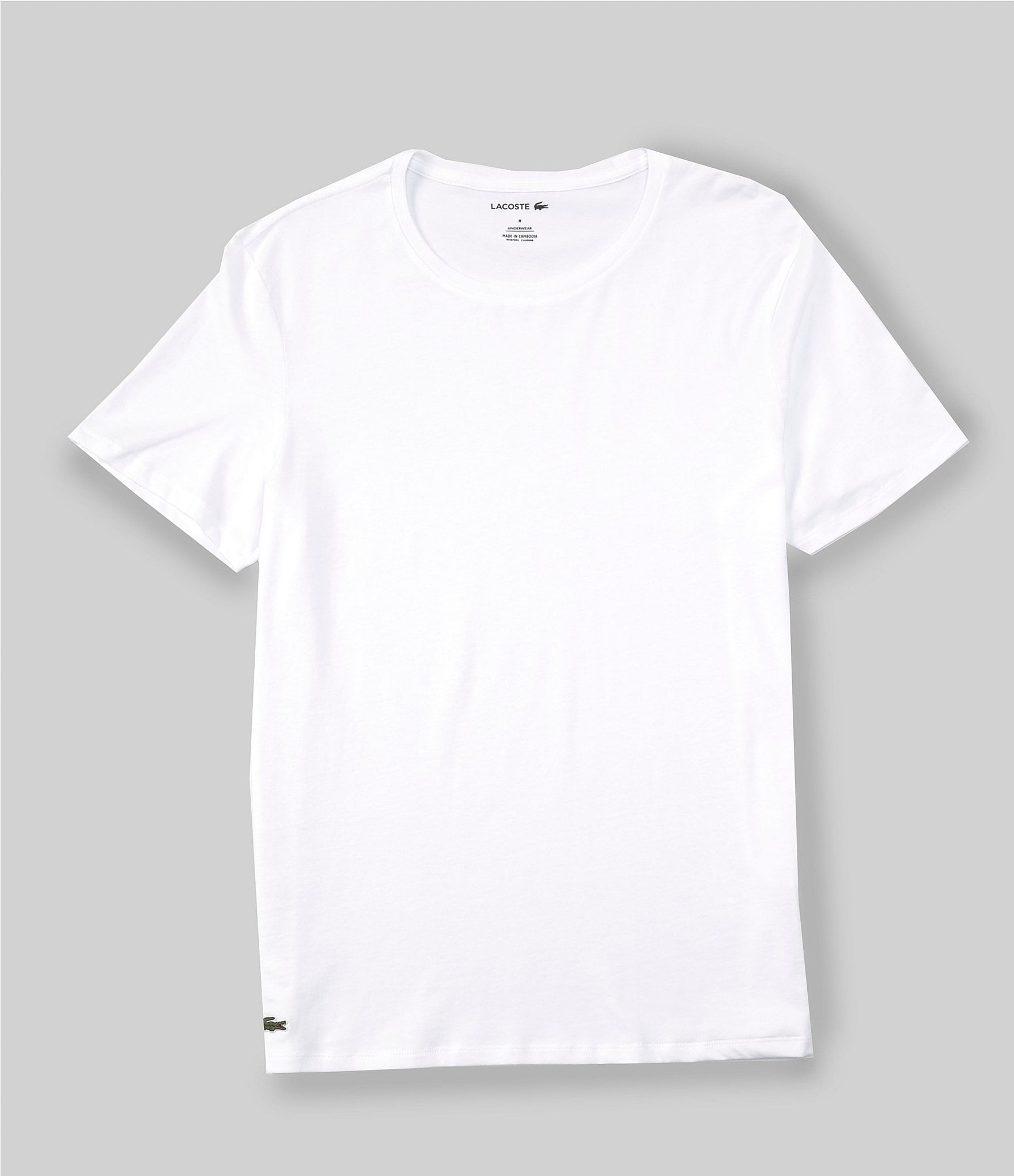 Lacoste Crew Neck Essential T-Shirts 3-Pack   Dillard's