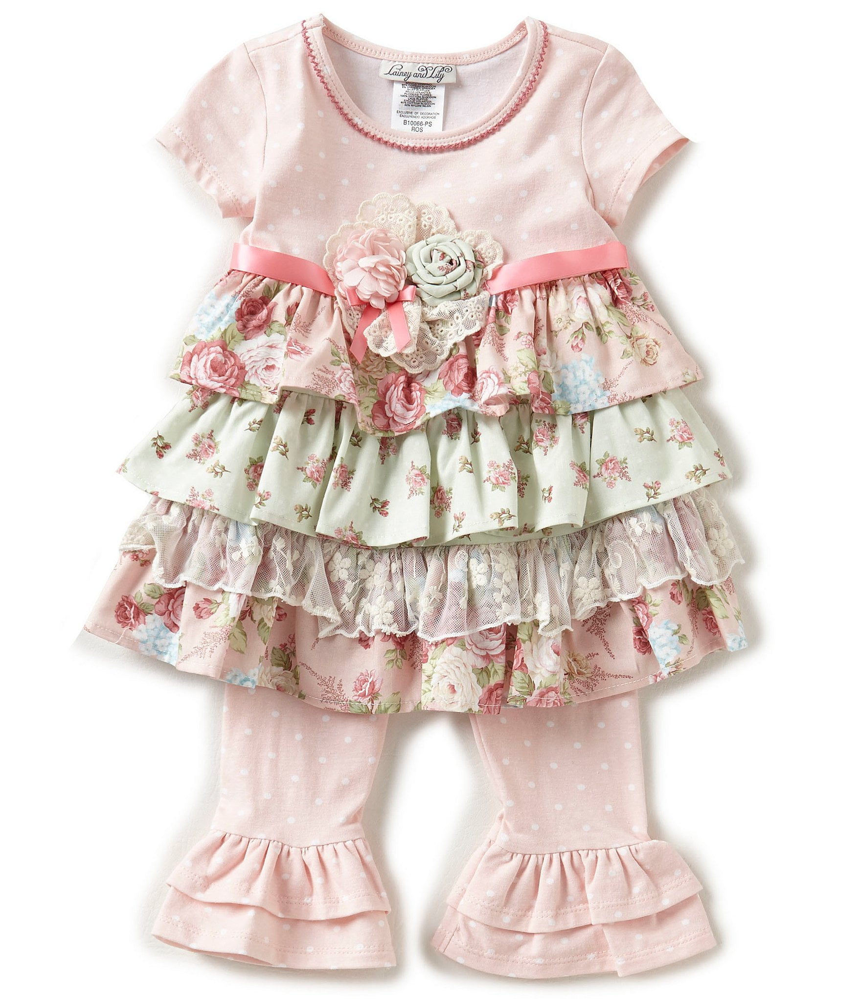 Lainey & Lily Baby Girls Newborn 24 Months Mixed Media Fit