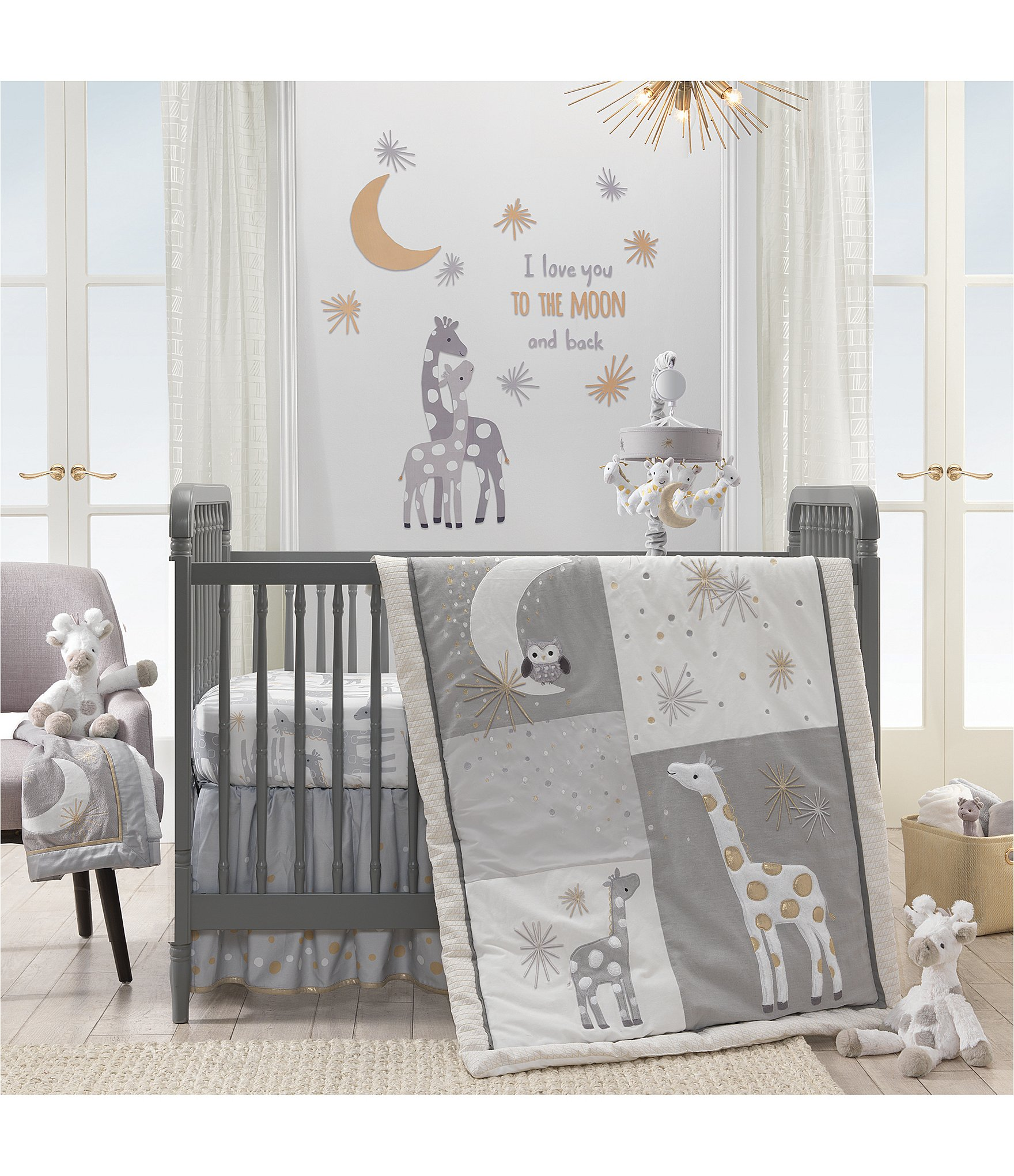 Lambs Ivy Signature Moonbeams 3 Piece Crib Bedding Set Dillard S