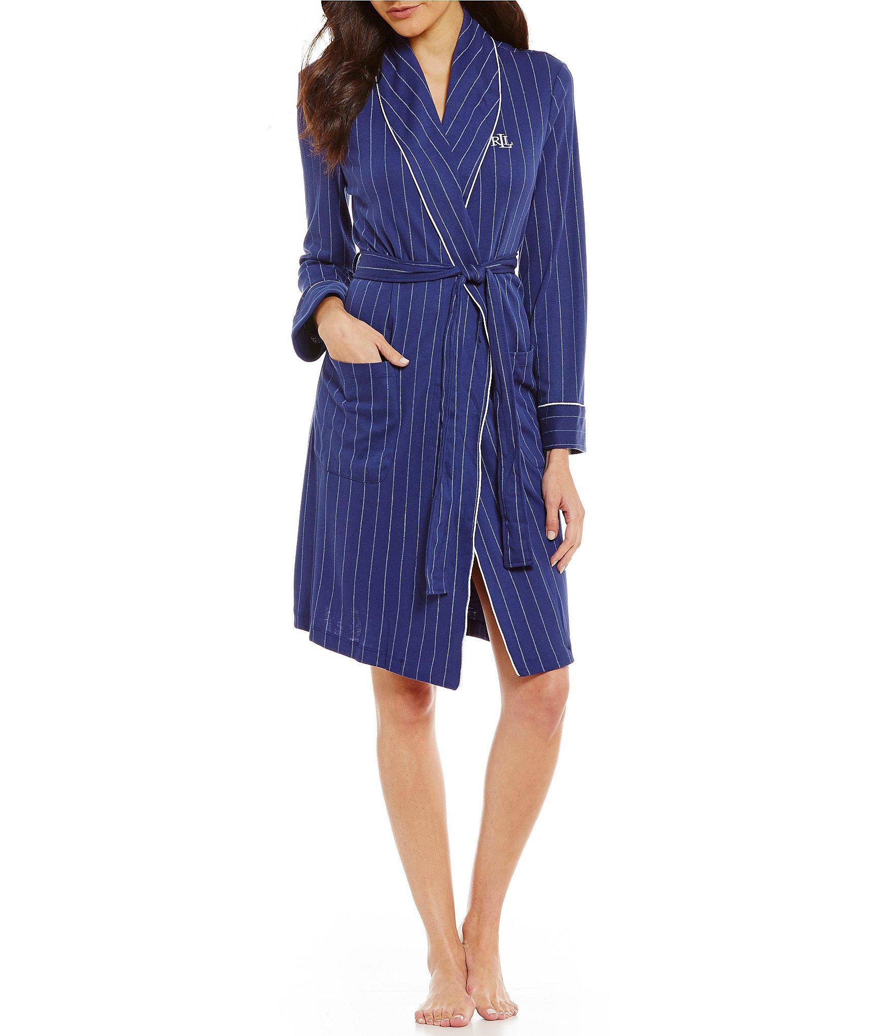 lauren ralph lauren striped robe dillards. Black Bedroom Furniture Sets. Home Design Ideas