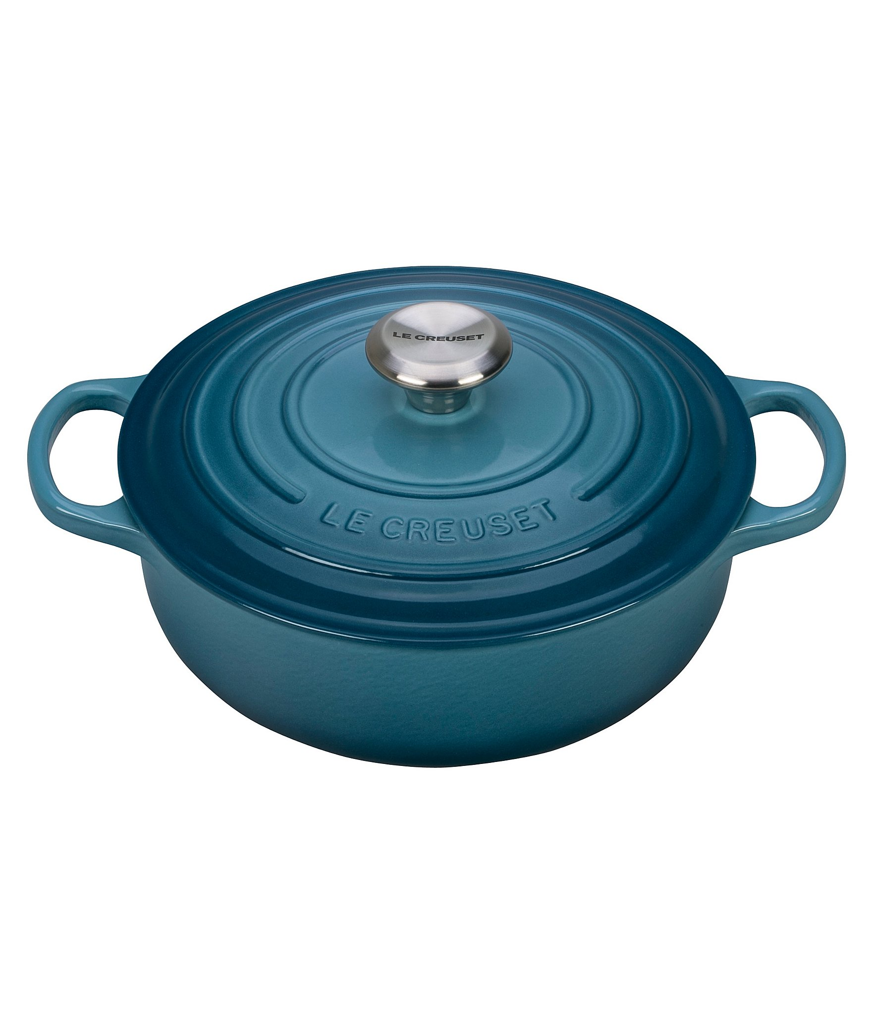le creuset signature enamel cast iron round wide dutch oven dillards. Black Bedroom Furniture Sets. Home Design Ideas