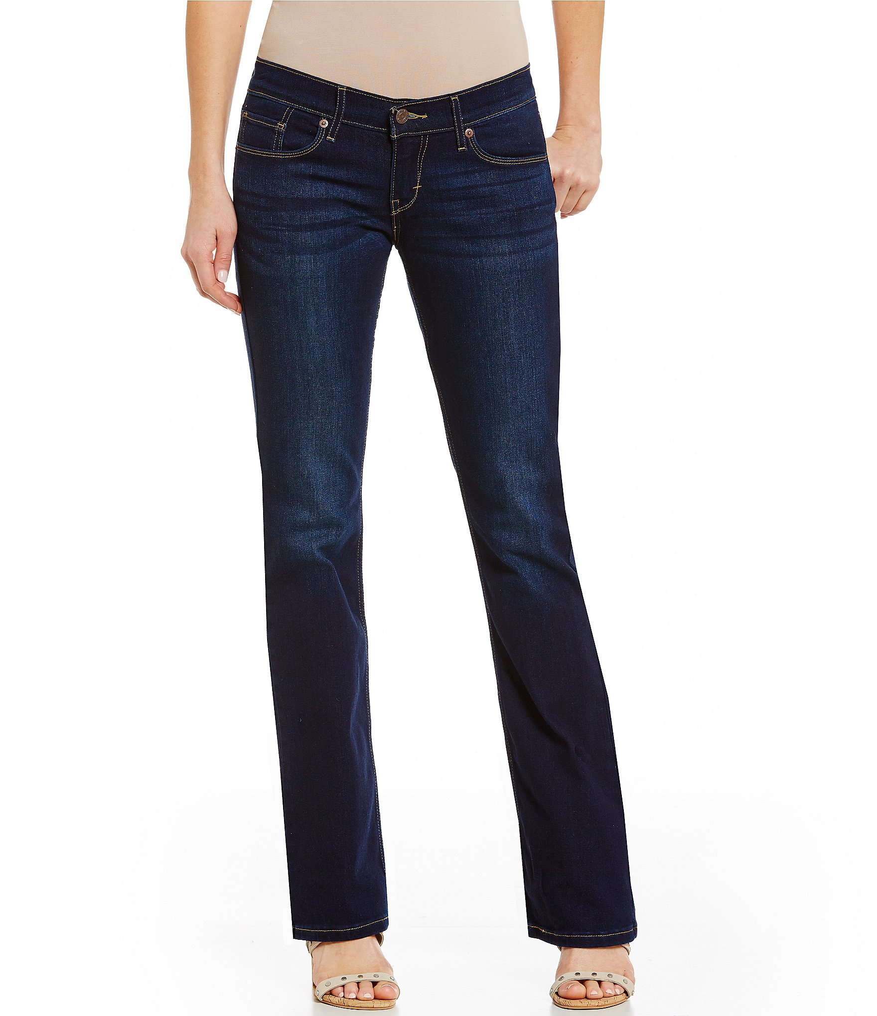 levi s 524 woven stretch bootcut jeans dillards. Black Bedroom Furniture Sets. Home Design Ideas