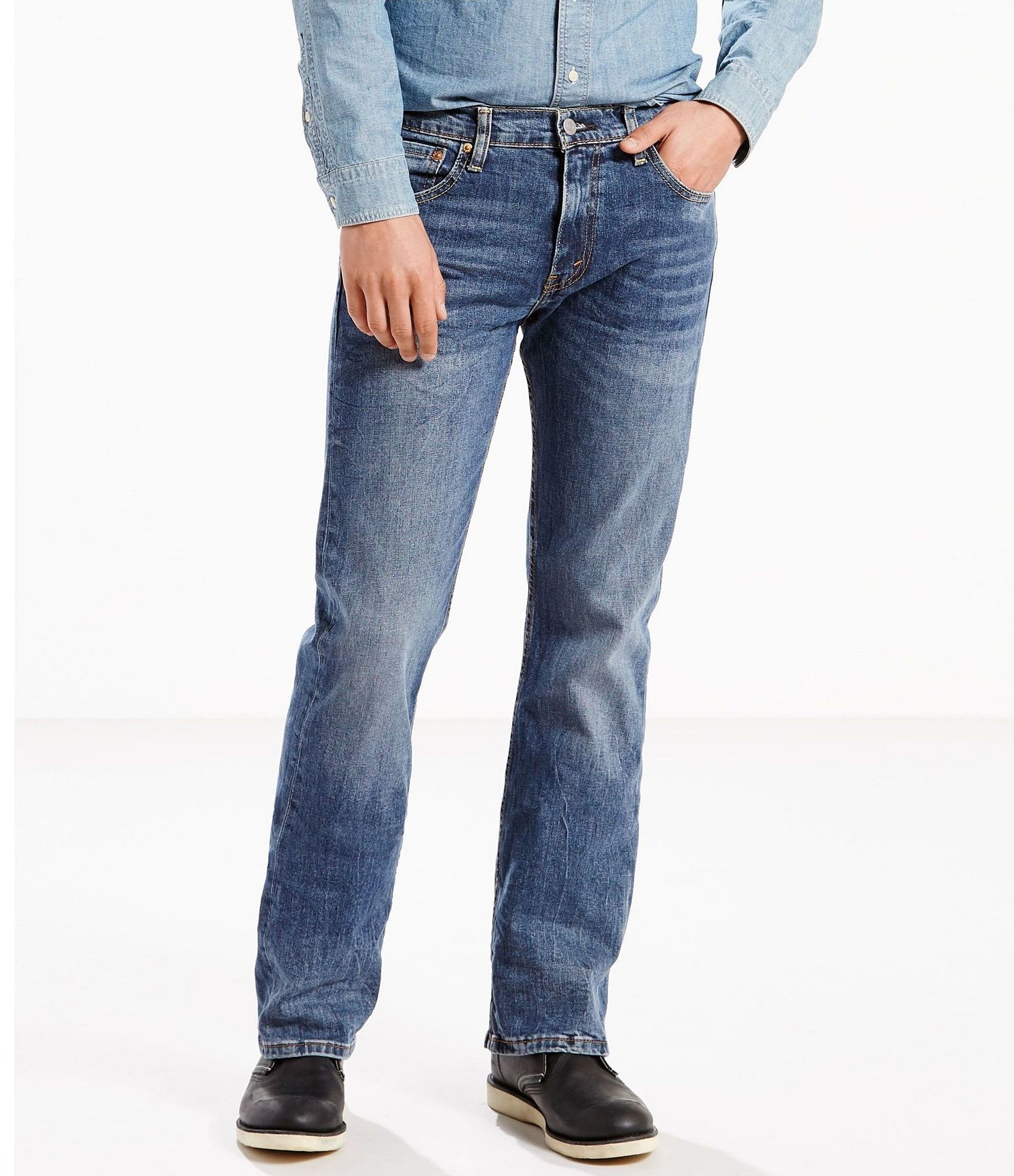 levi s 527 bootcut stretch jeans dillards. Black Bedroom Furniture Sets. Home Design Ideas