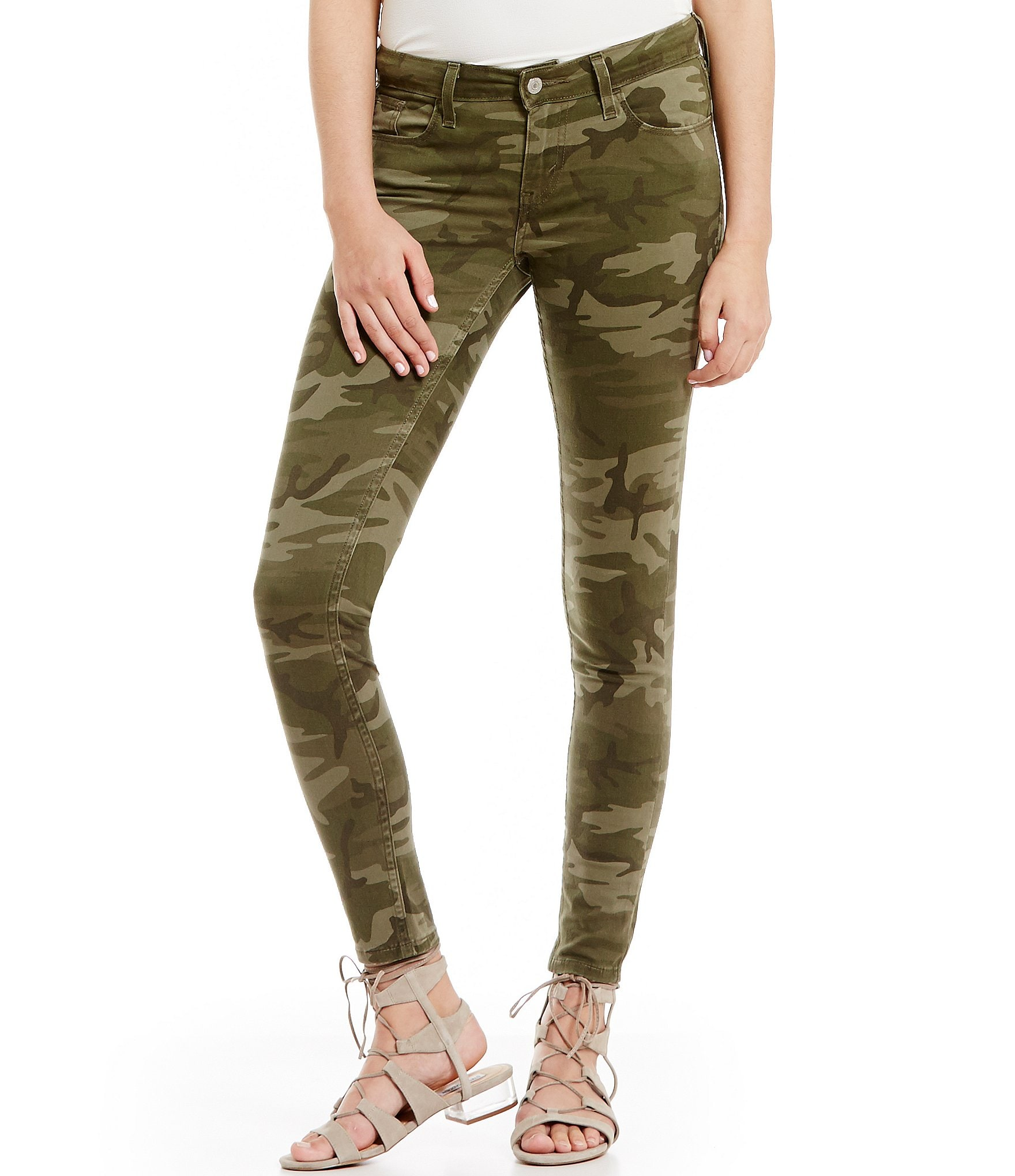 levi 39 s 535 camo super skinny jeans dillards. Black Bedroom Furniture Sets. Home Design Ideas