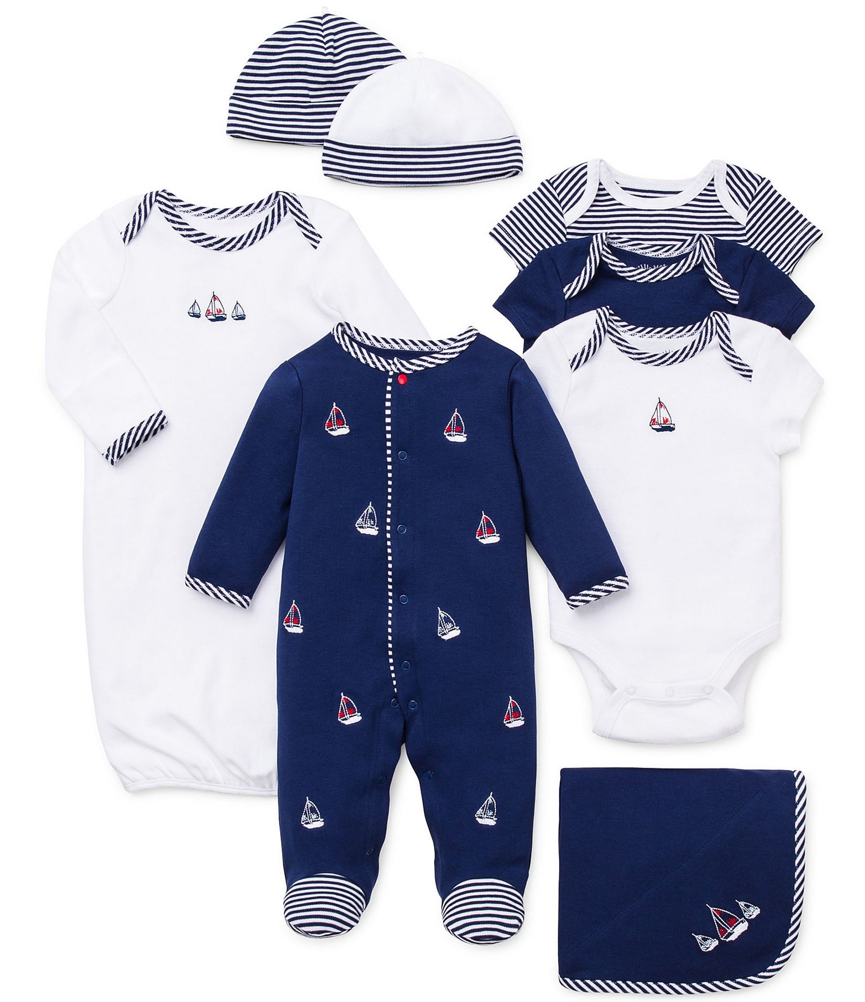 Little Me Baby Boys Newborn-9 Months Sailboats 11-Piece ...