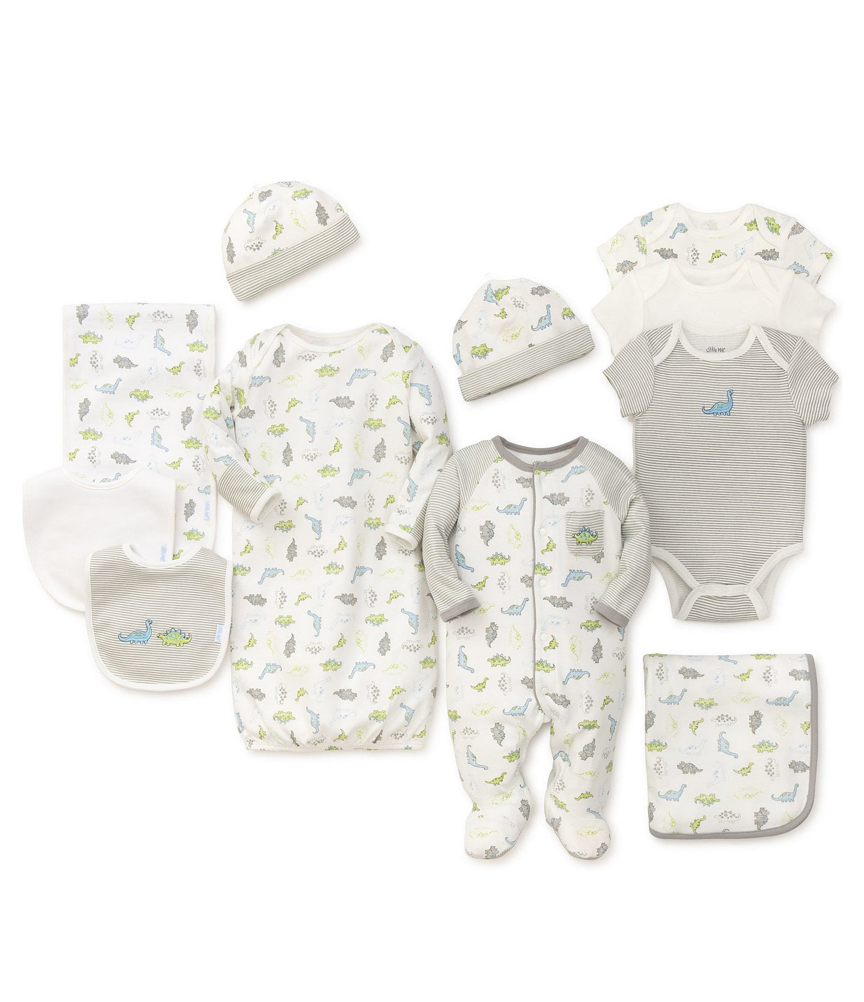 b7fb71838 Little Me Baby Boys Preemie-9 Months Tiny Dinos 11-Piece Collection ...
