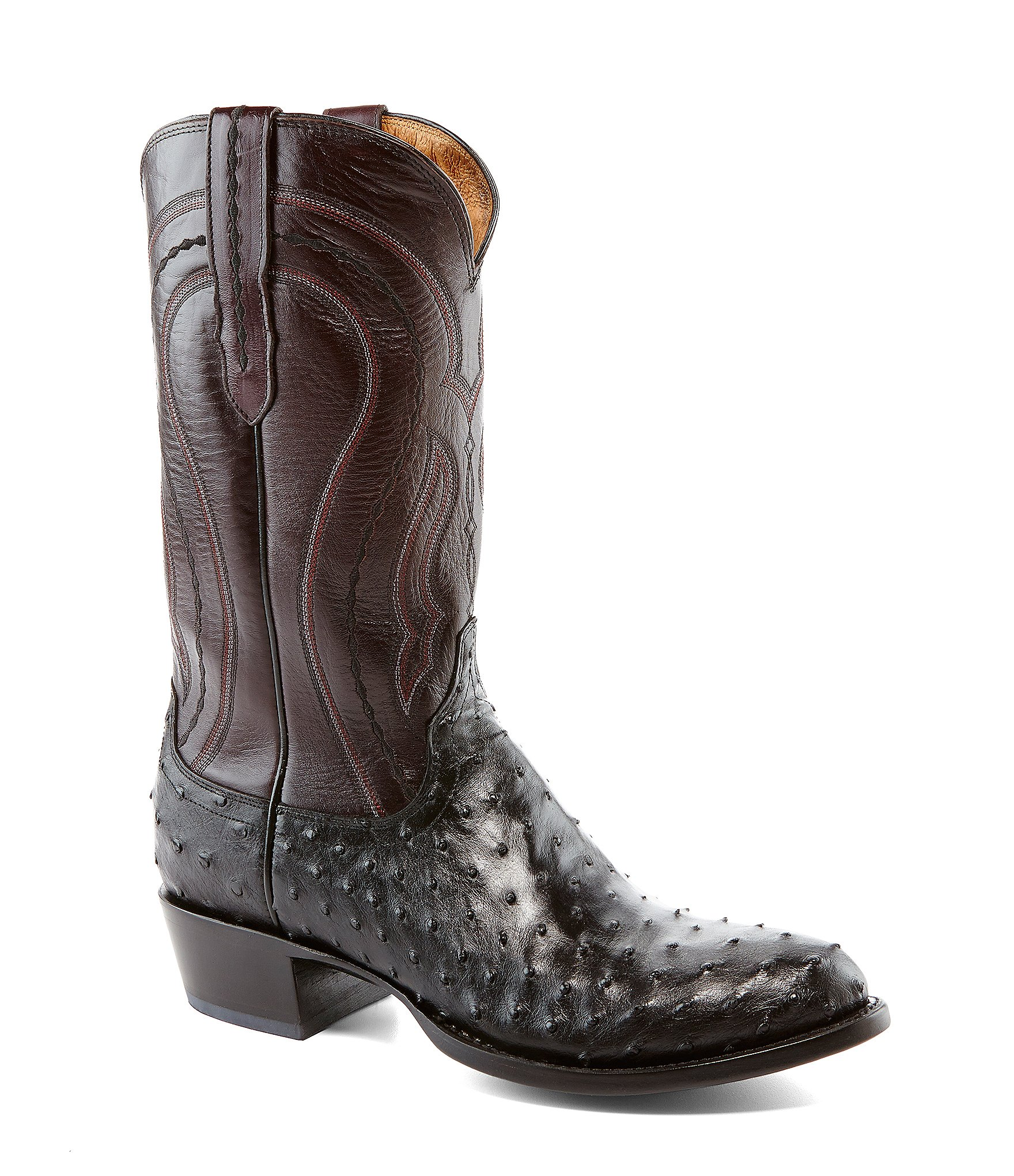 lucchese since 1883 western quill ostrich boots