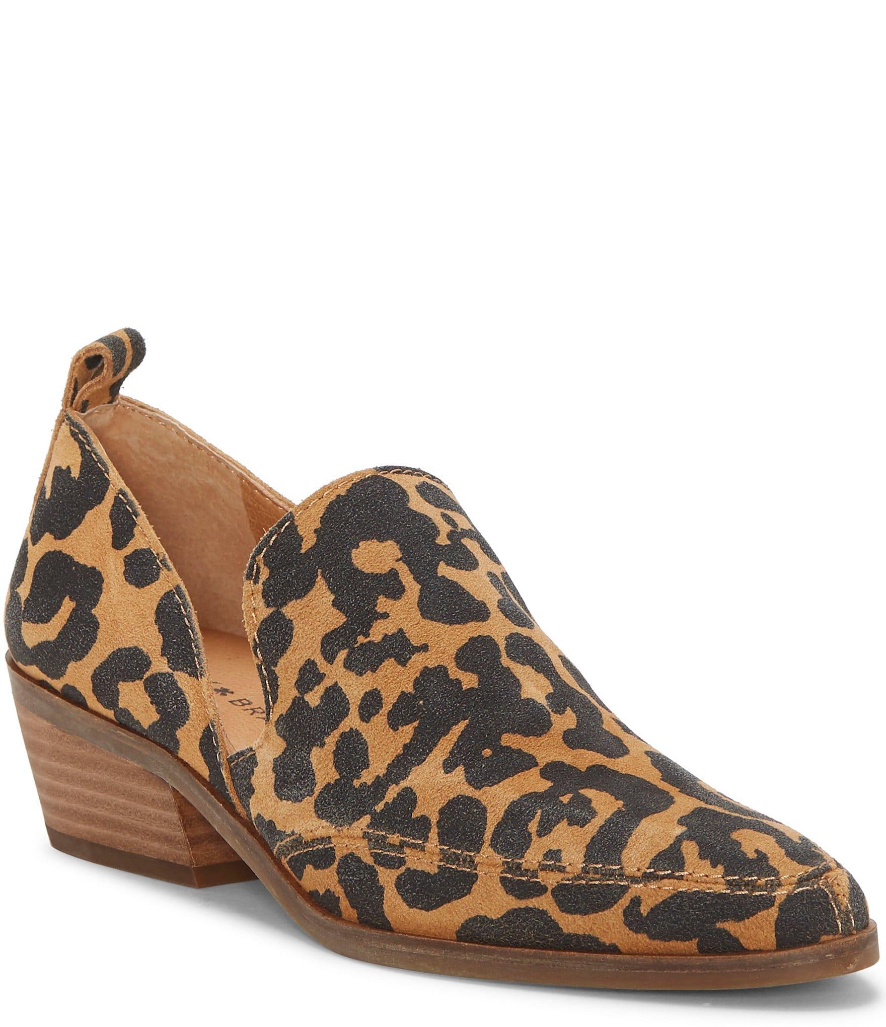 leopard print shoes block heel