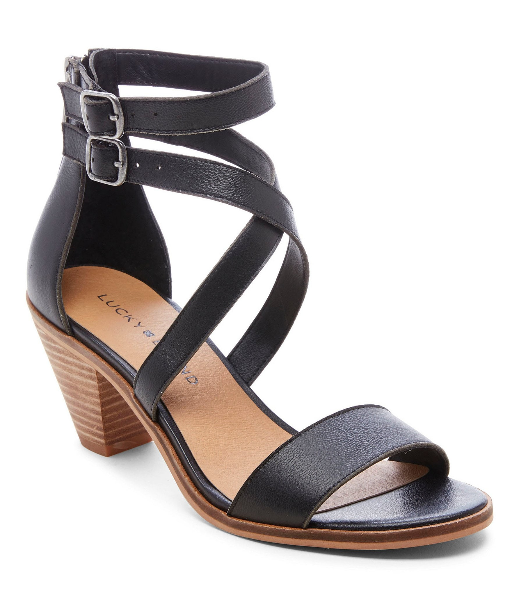 Lucky Brand Ressia Leather Cone Heel