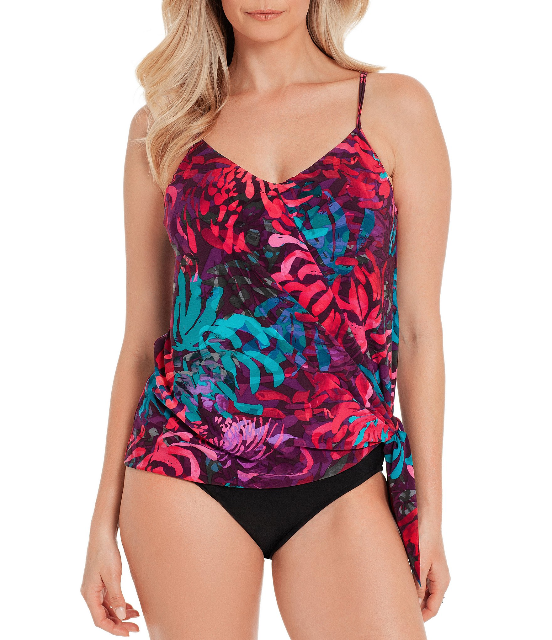 807a06abb4 MagicsuitCoral Springs Alex Underwire Tankini Swimsuit Top & Brief Shirred  Swimsuit Bottom