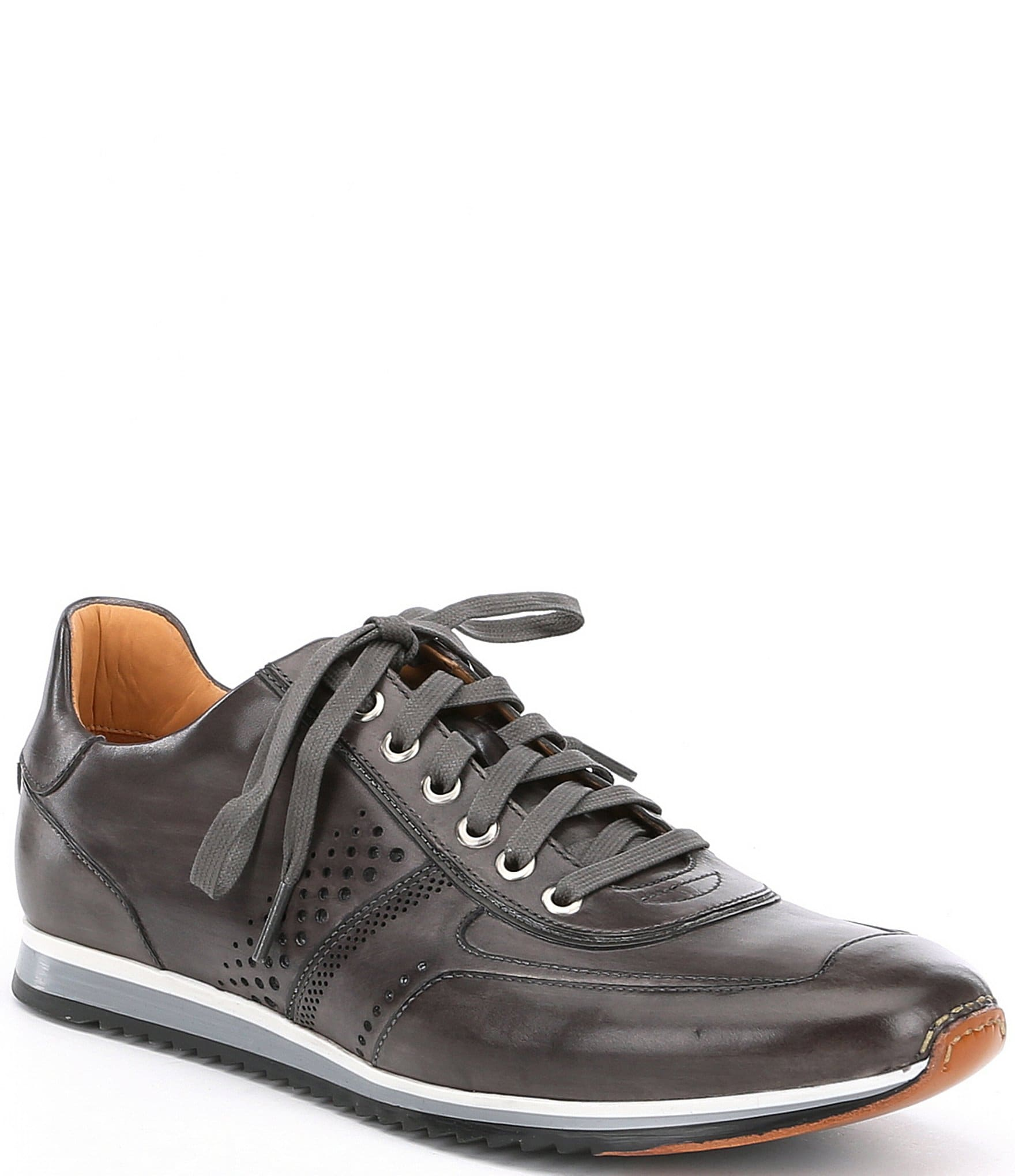 Cristian Perforated Leather Sneakers