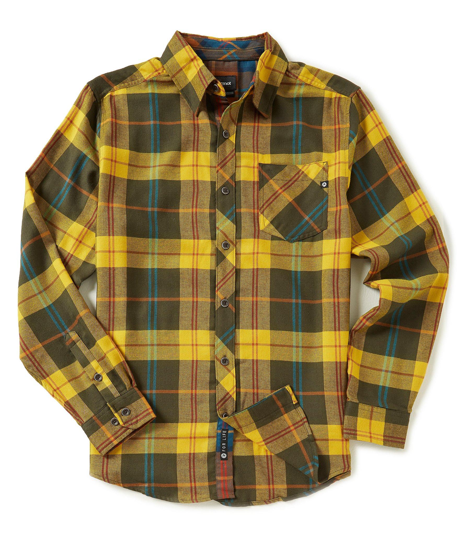 Marmot anderson long sleeve flannel woven shirt dillards for Marmot anderson flannel shirt men s