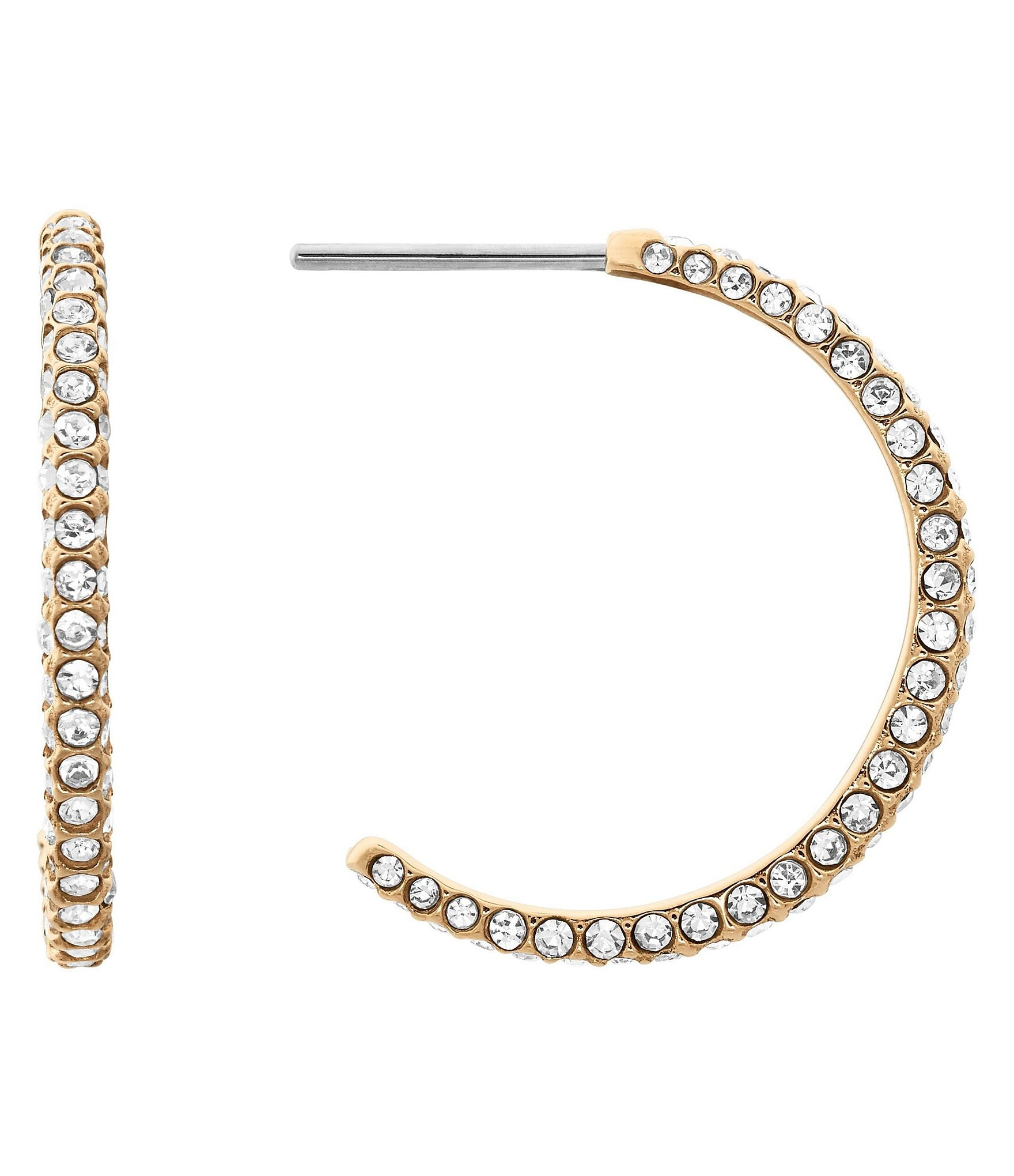 michael kors beyond brilliant celestial hoop earrings. Black Bedroom Furniture Sets. Home Design Ideas