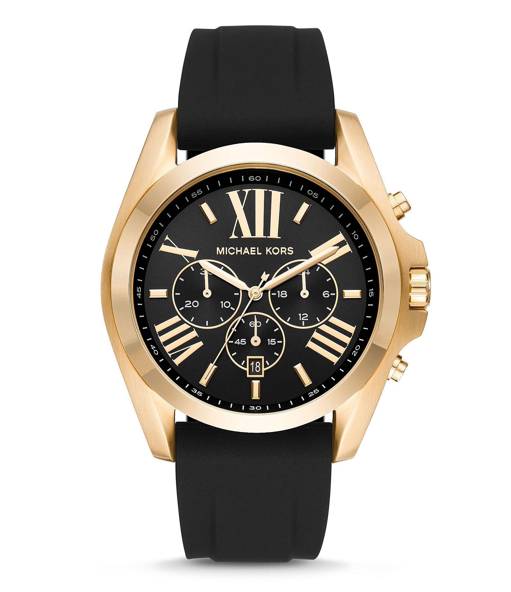 michael kors bradshaw chronograph date silicone