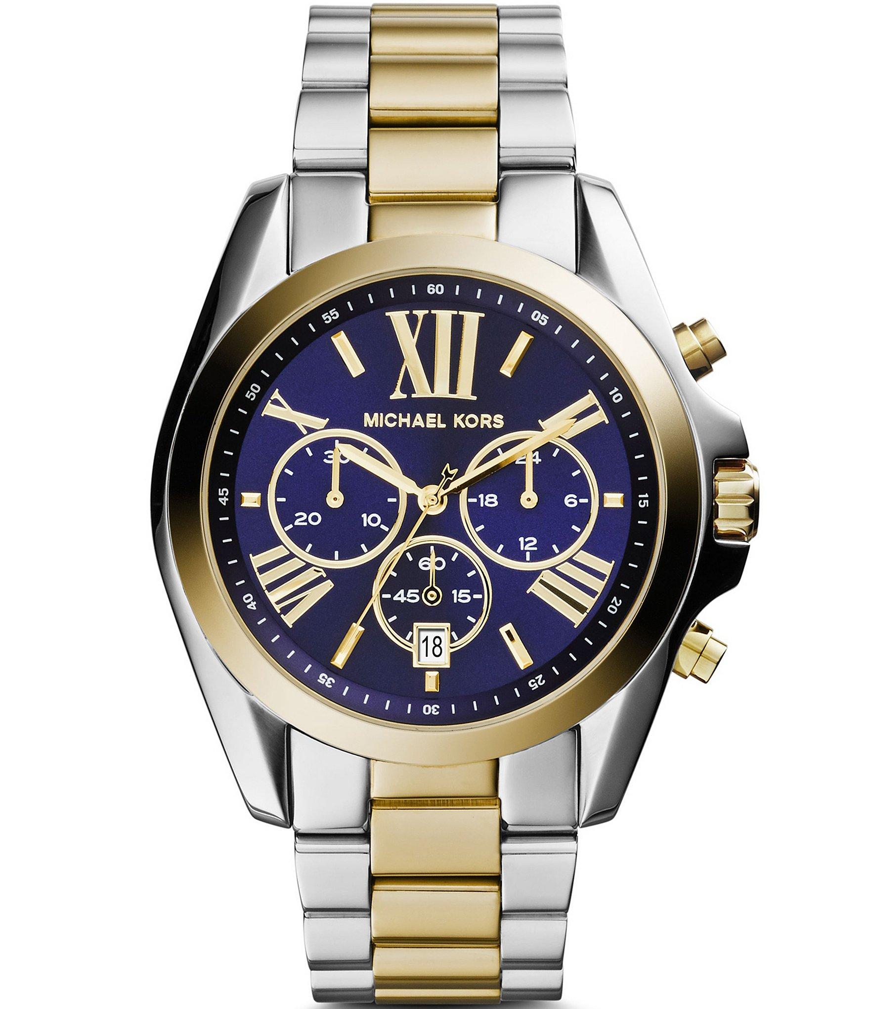 michael kors bradshaw two tone chronograph dillards