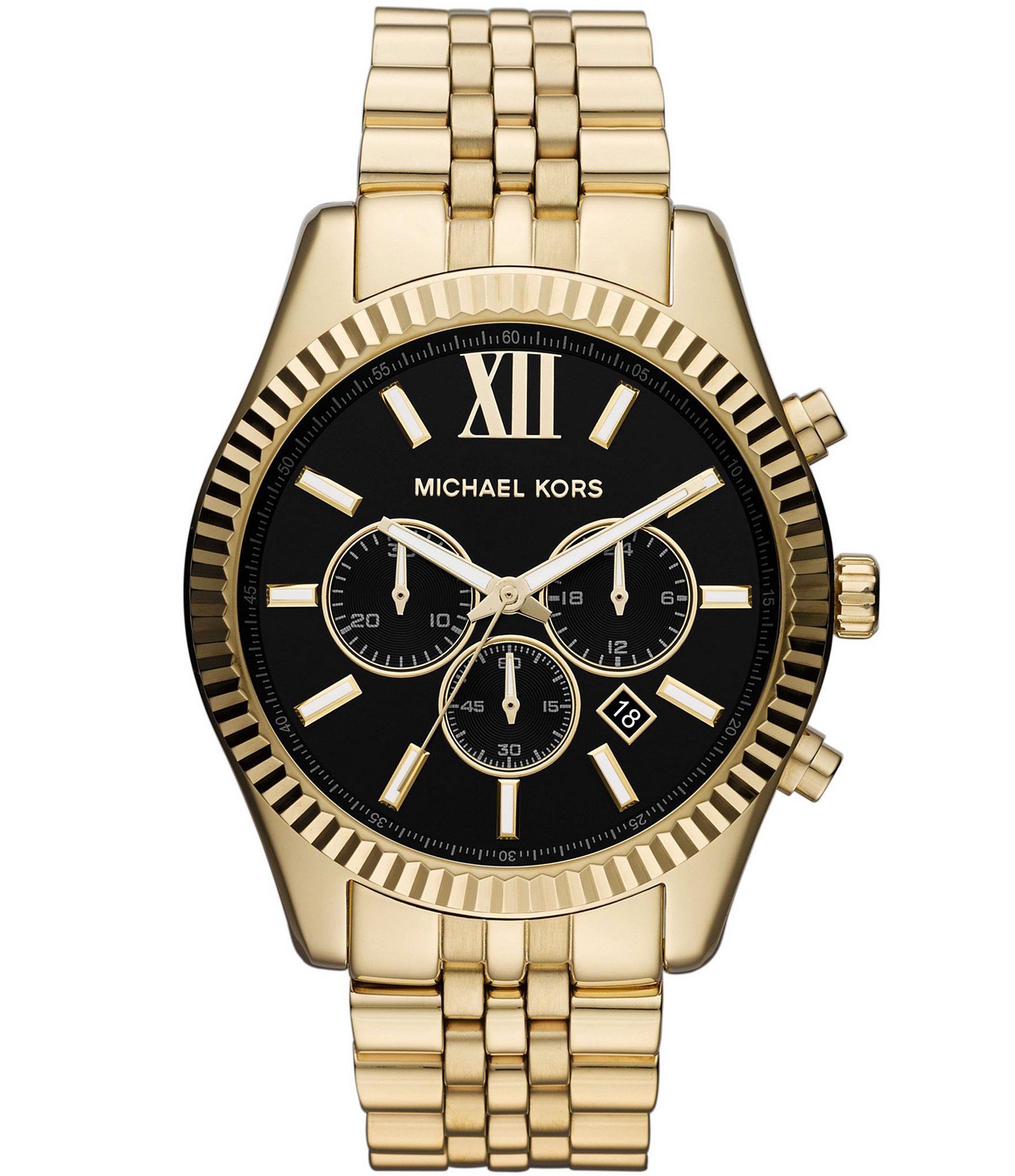 michael kors gold stainless steel chronograph