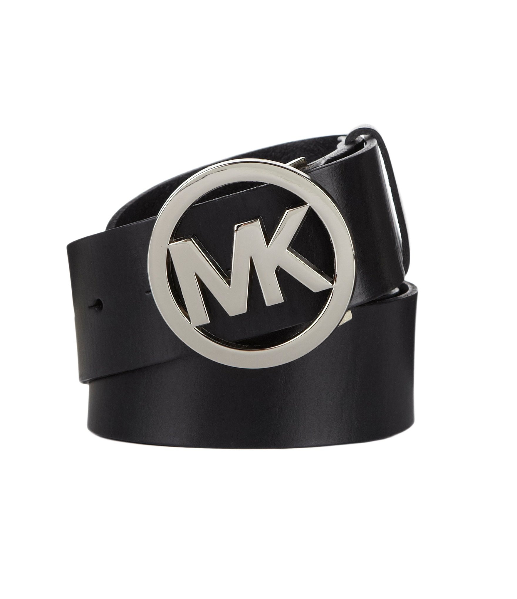 michael kors logo plaque leather belt dillards