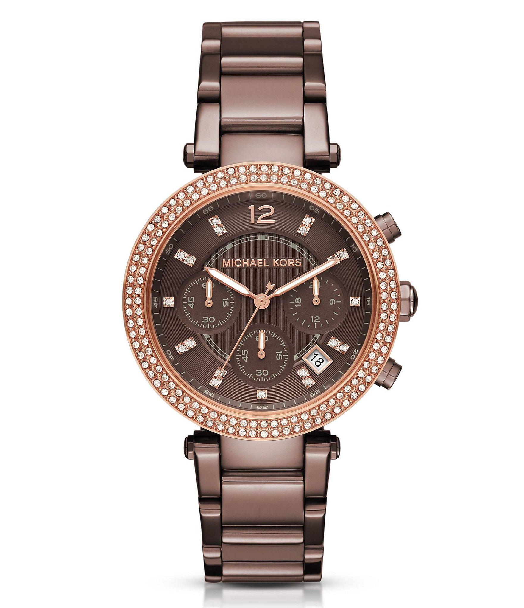 michael kors chronograph date bracelet