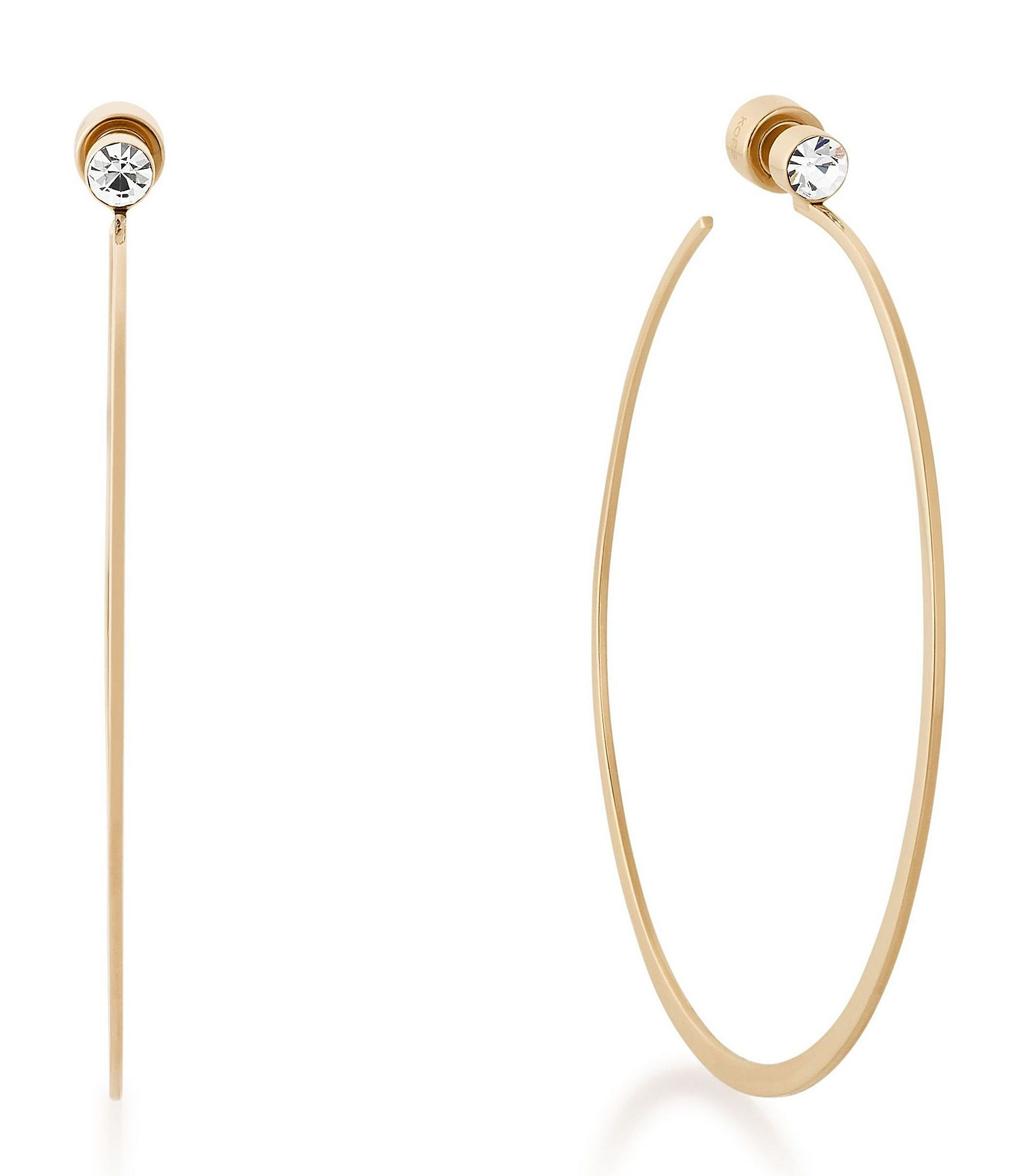 michael hoop earrings michael kors hoop earrings dillards 9817