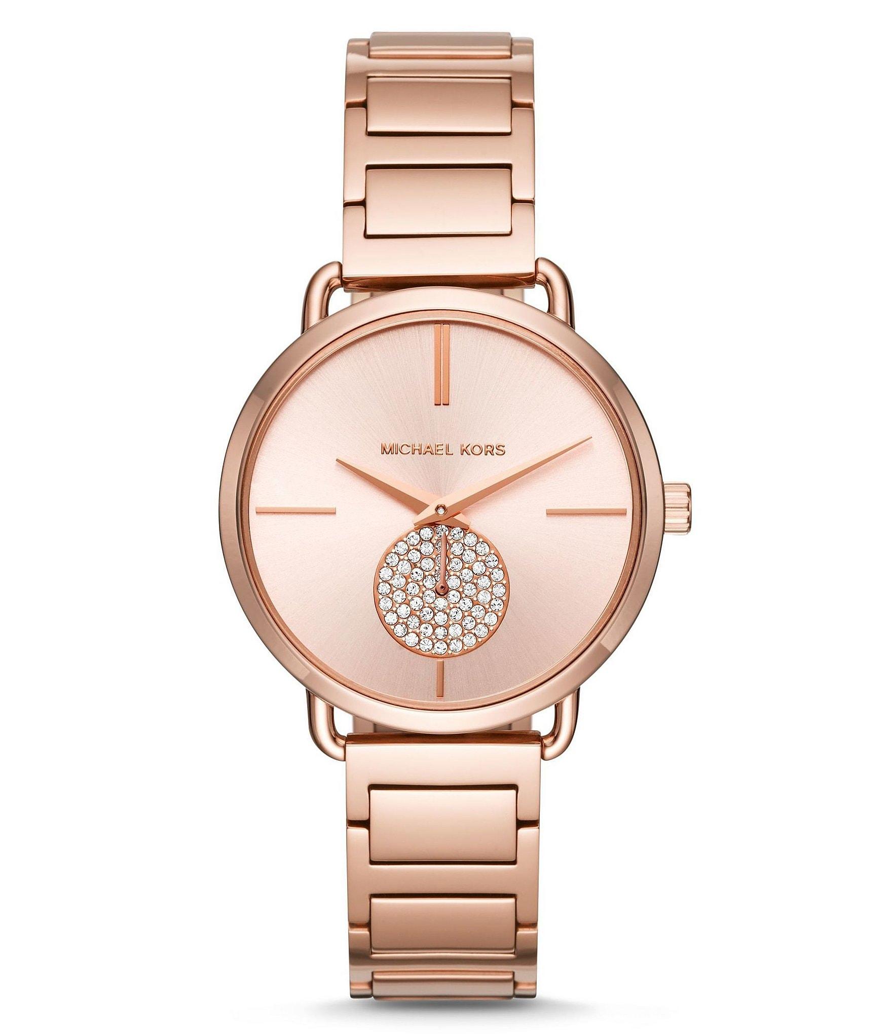 michael kors portia chronograph bracelet dillards