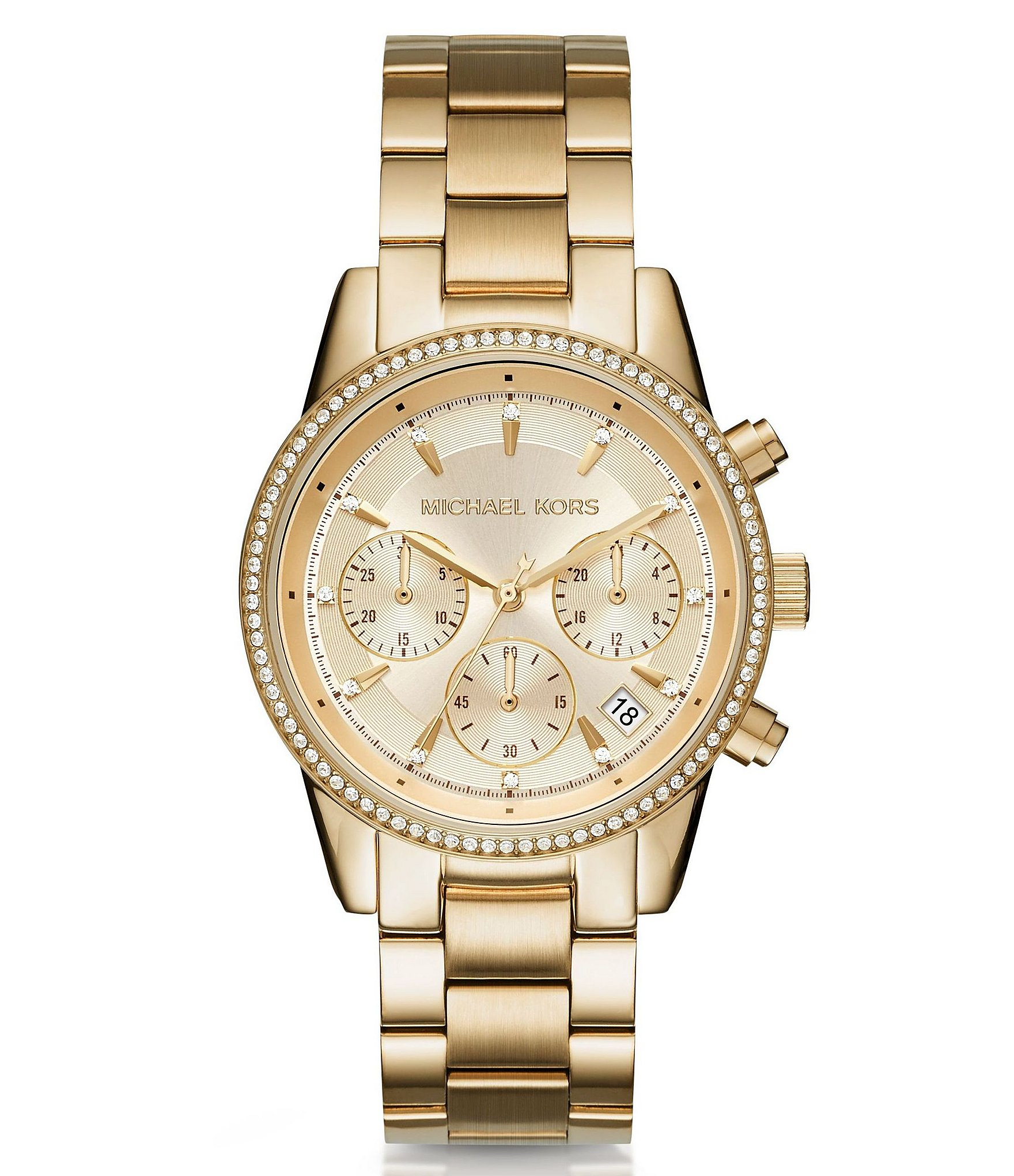Michael Kors Ritz Chronograph & Date Bracelet Watch | Dillards