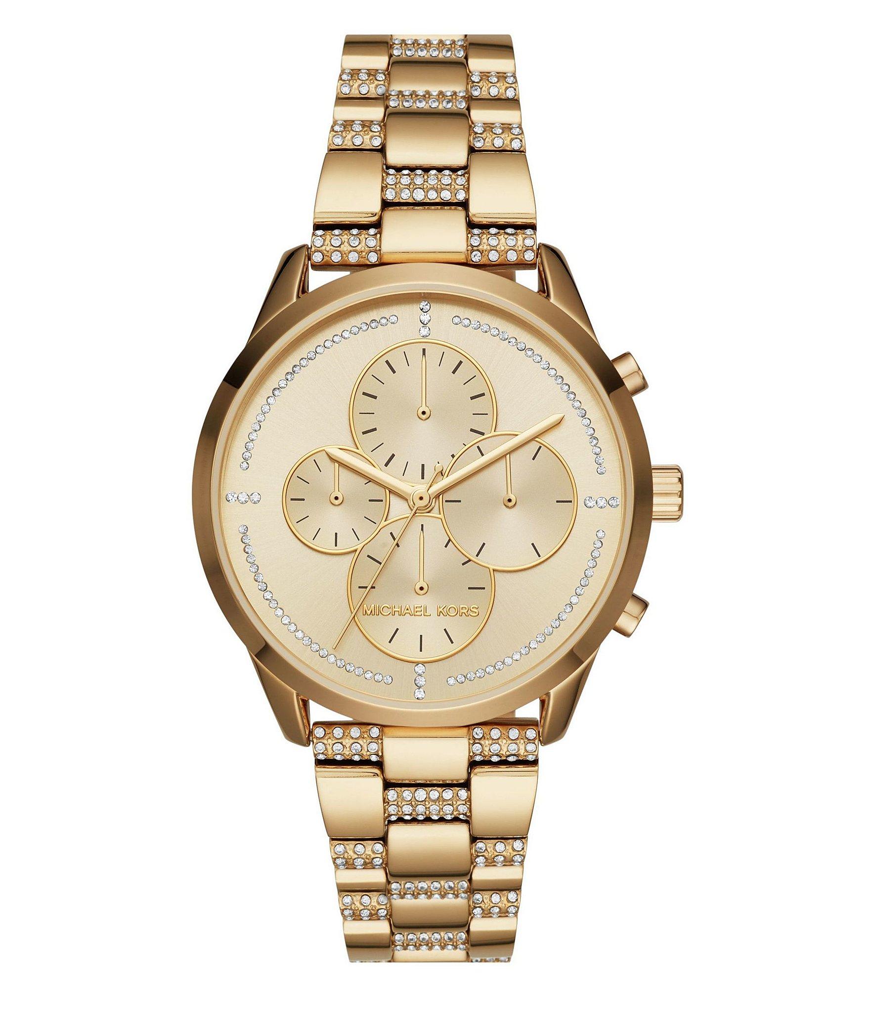 michael kors slater pav 233 chronograph bracelet dillards