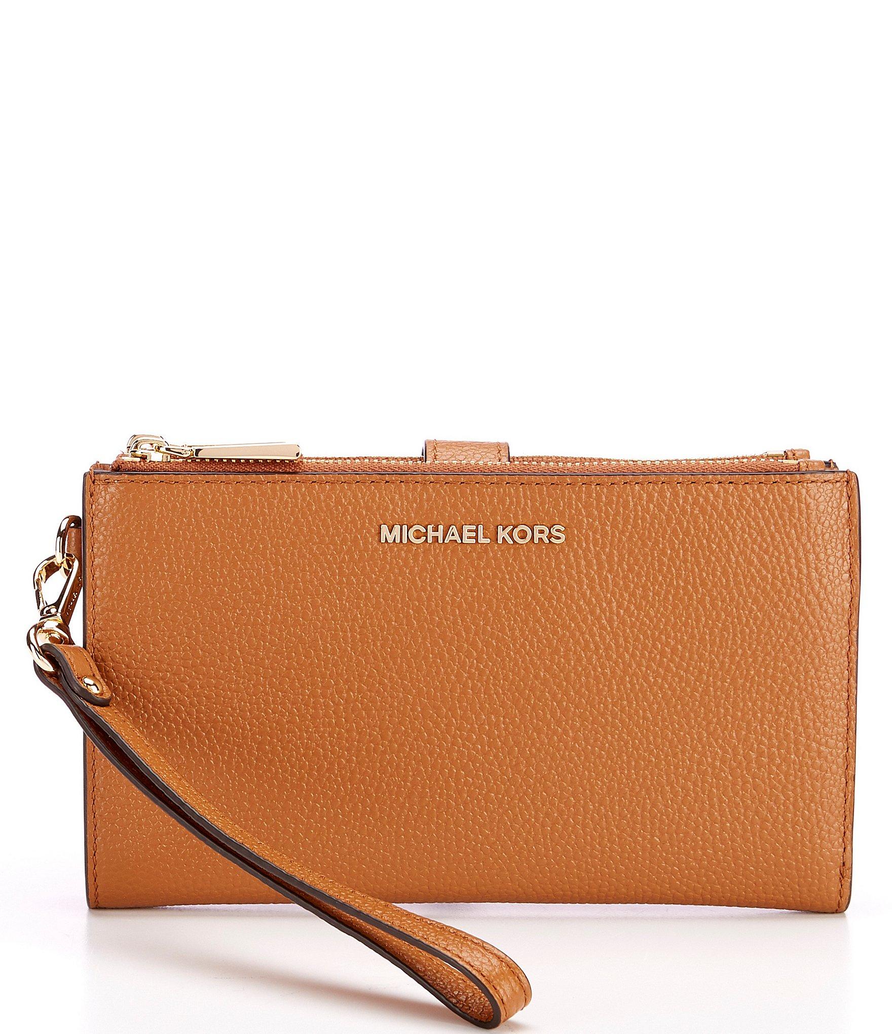 MICHAEL Michael Kors Adele Double Zip Gold Tone Wristlet | Dillard's