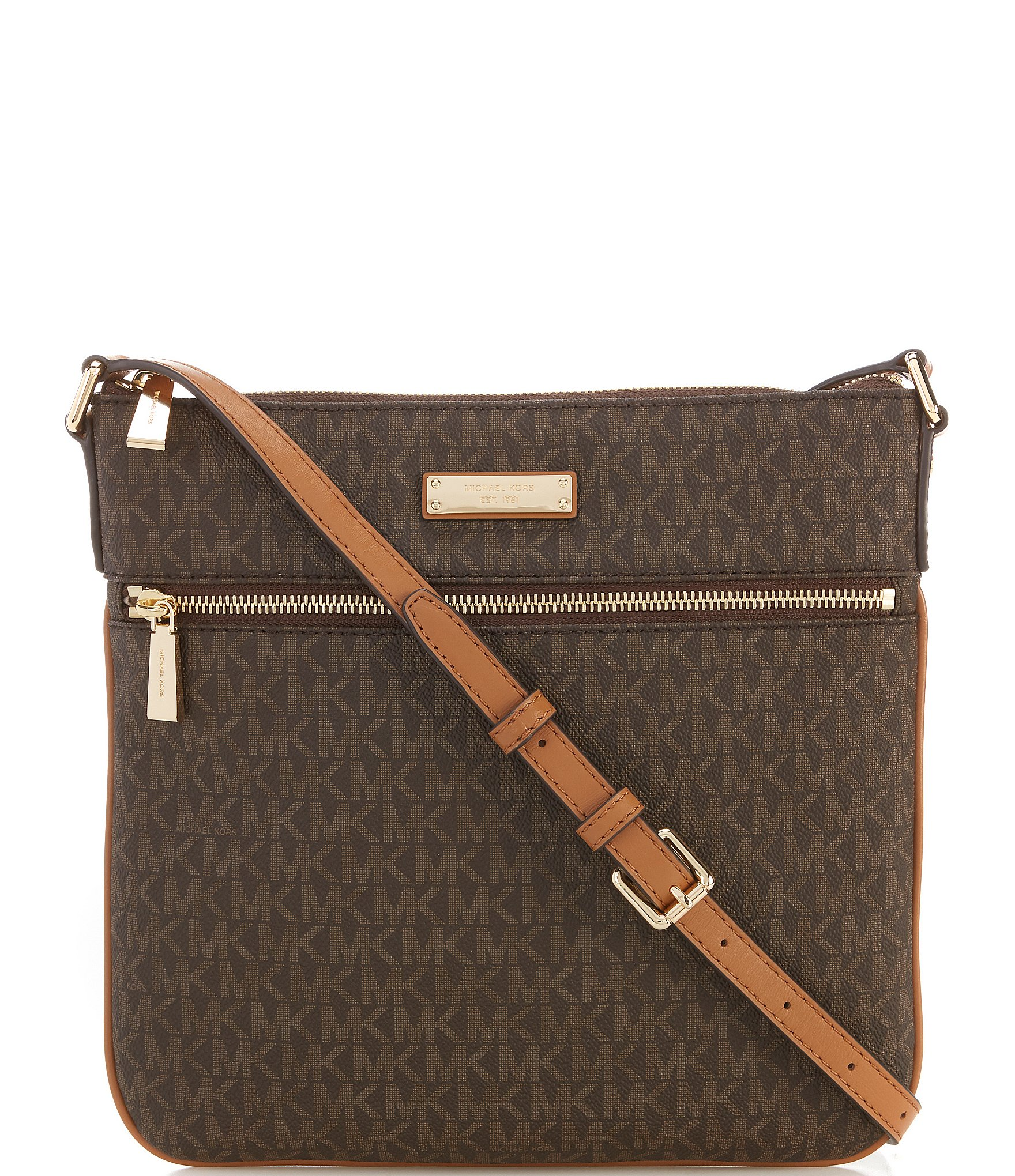 Michael Kors Laukkukoru : Michael kors bedford signature flat cross body bag