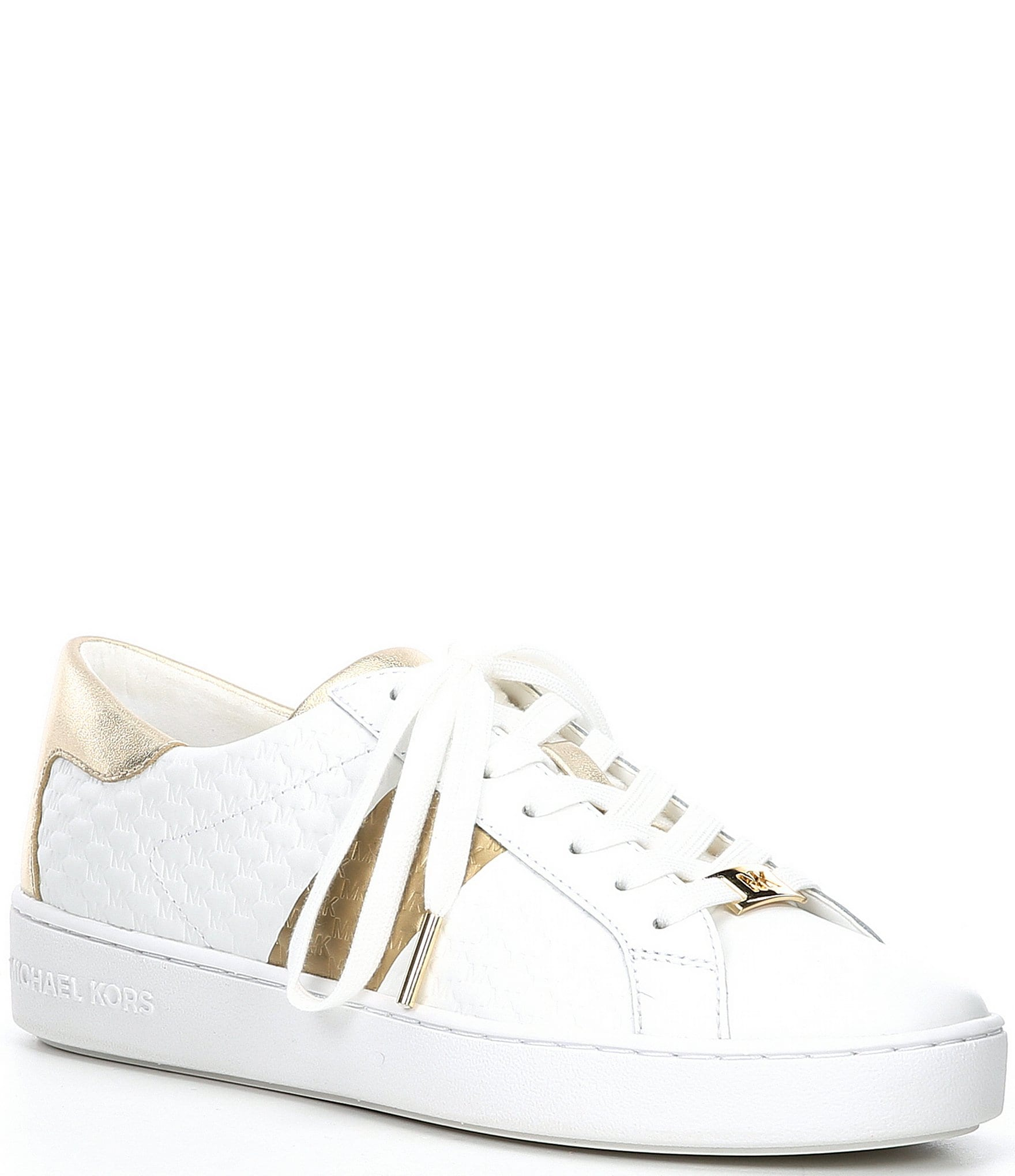 michael kors white leather sneakers