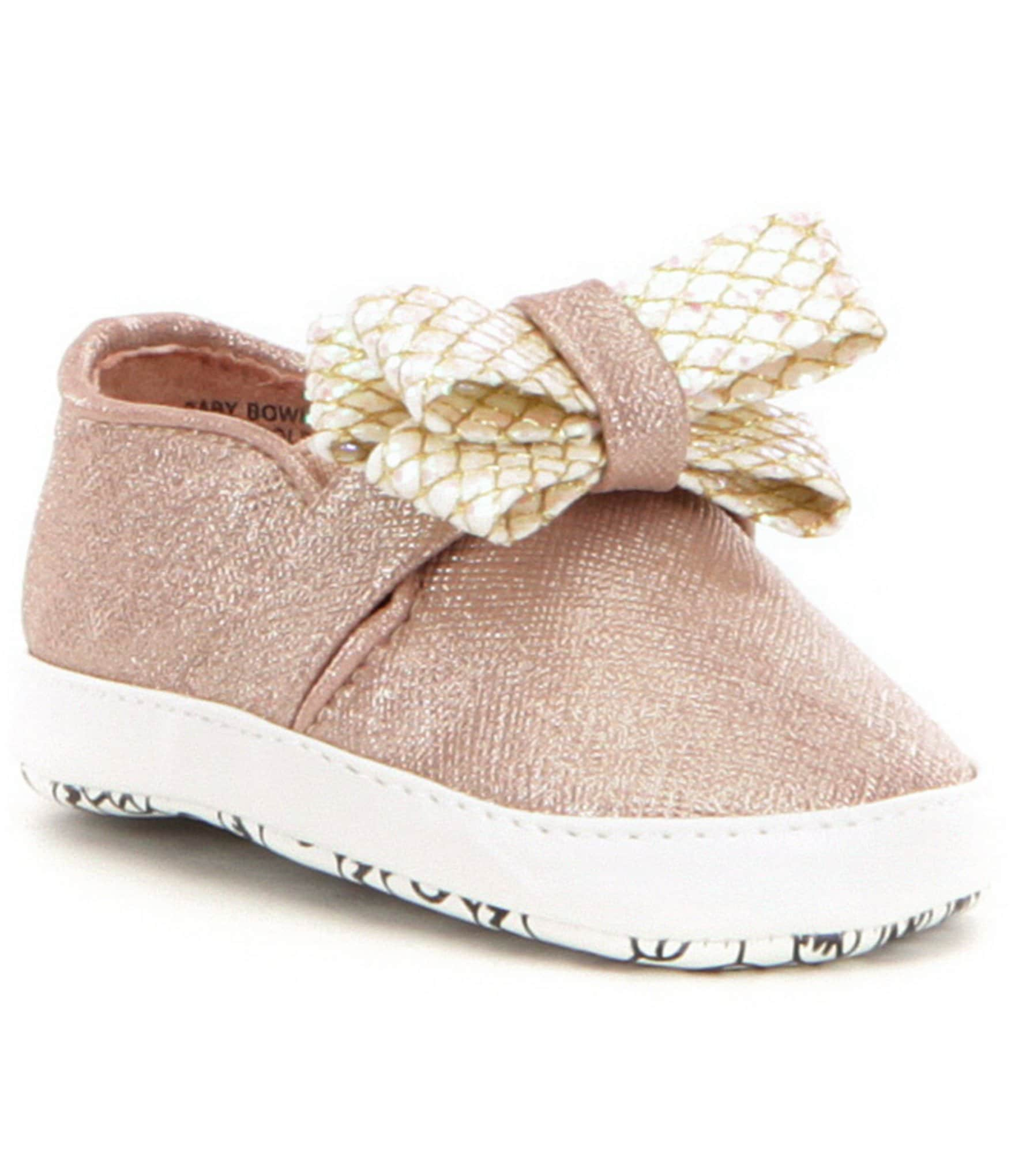 MICHAEL Michael Kors Girls´ Baby Bowi Metallic Bow Slip