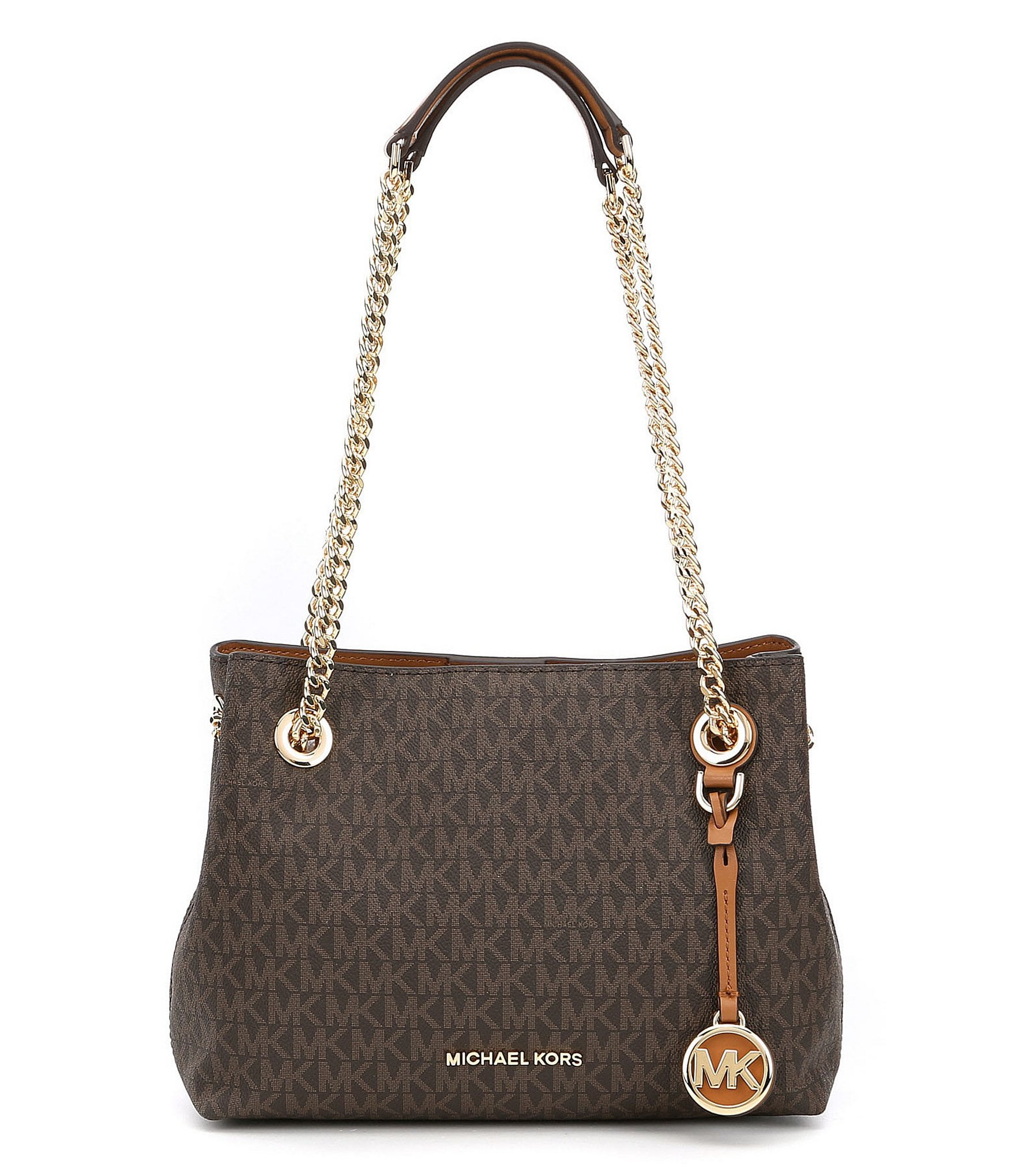 Michael Kors Tote With Chain Handles Mkdiscount