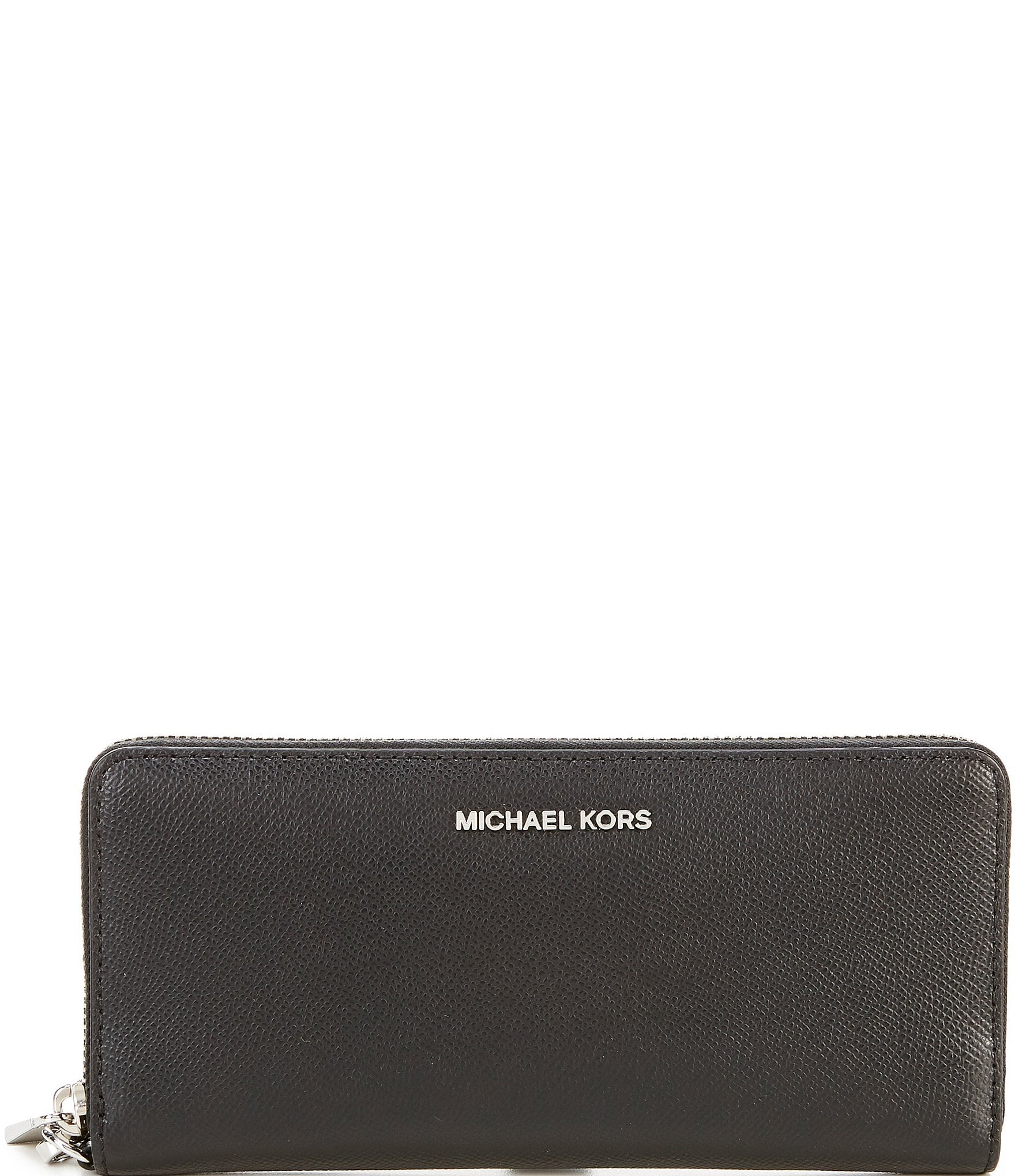 2eb64b11b5701 MICHAEL Michael Kors Silver-Tone Jet Set Continental Multifunction Phone  Wallet